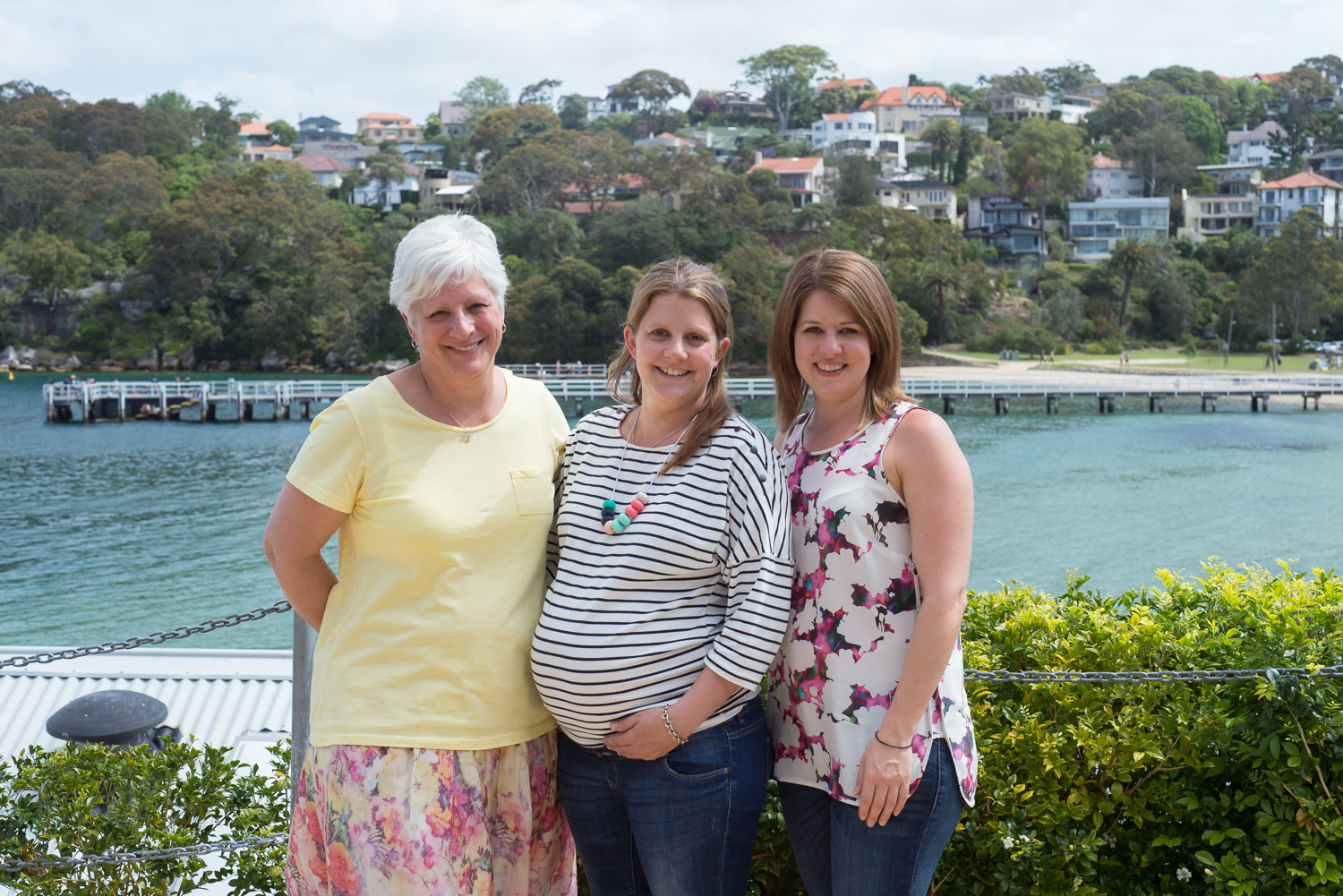 With my gorgeous mum and sister