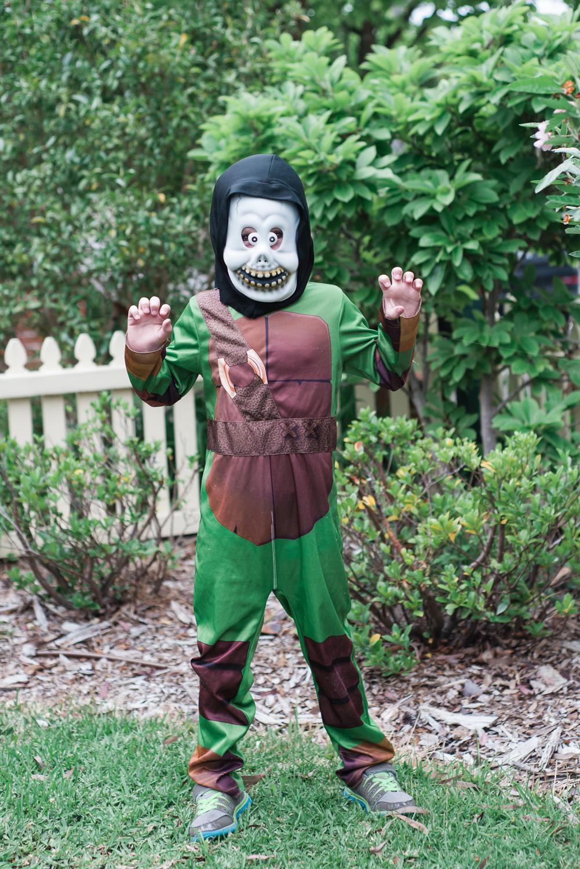 Halloween- a mix up of a Teenage Mutant Ninja Turtle and halloween mask