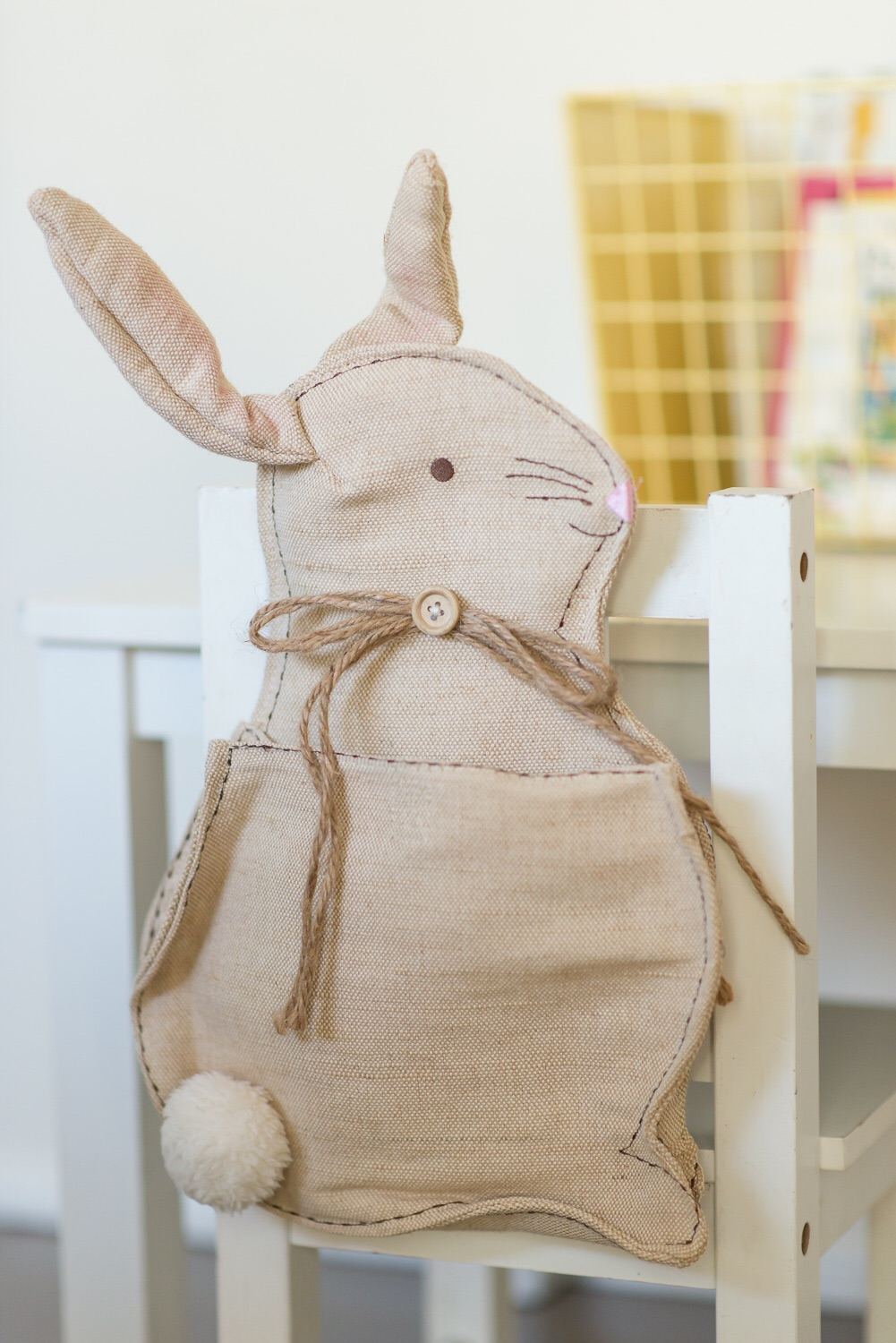 Bunny chair cover from  Pottery Barn kids  (check their website after Easter as they usually have sales)