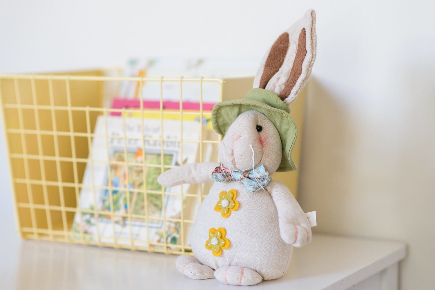 Our Easter book collection which is sadly less than this now as our airconditioner leaked water all over them and I had to throw half of them out 😞 Mr bunny from  Target  a couple of years ago.