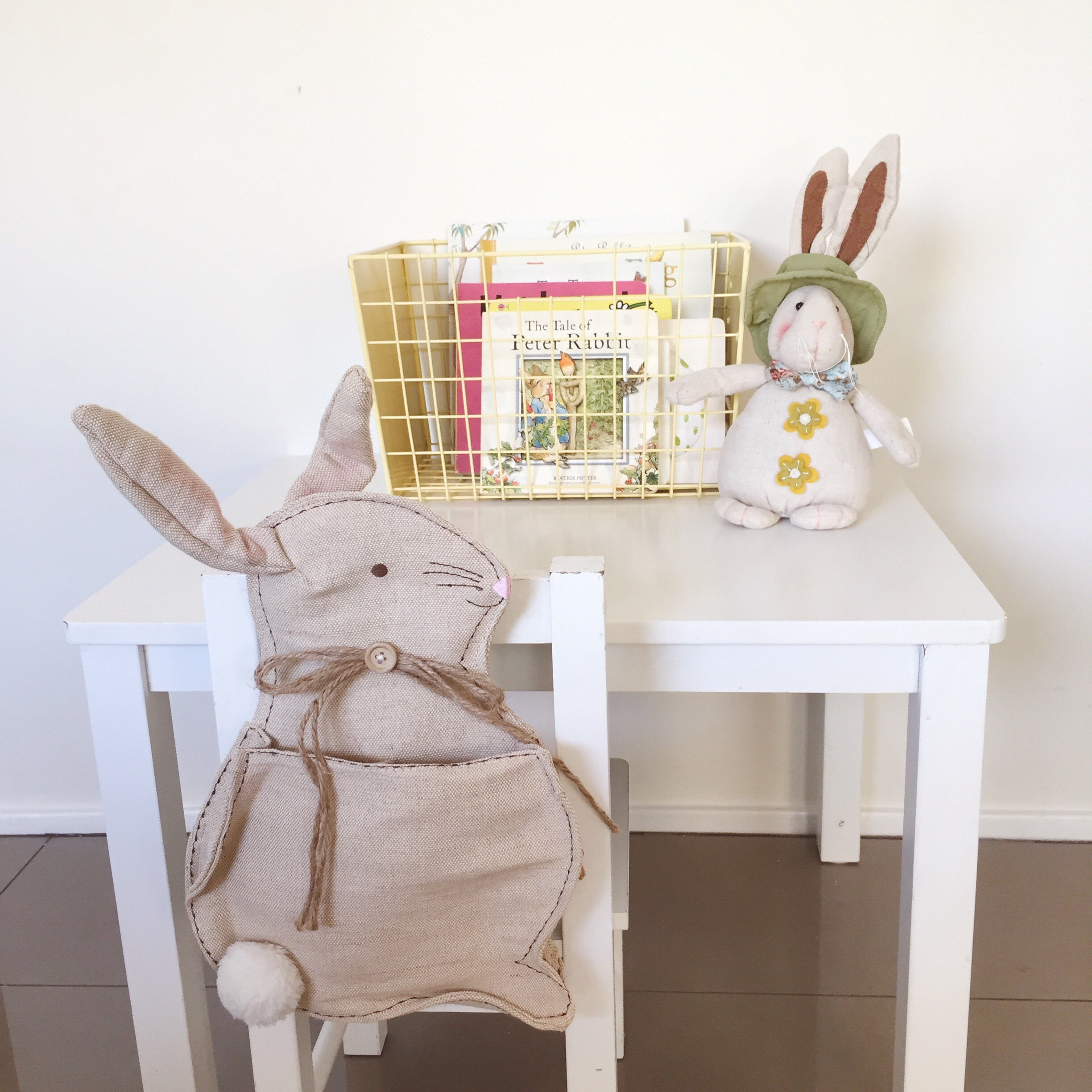 Kids table in our dining area