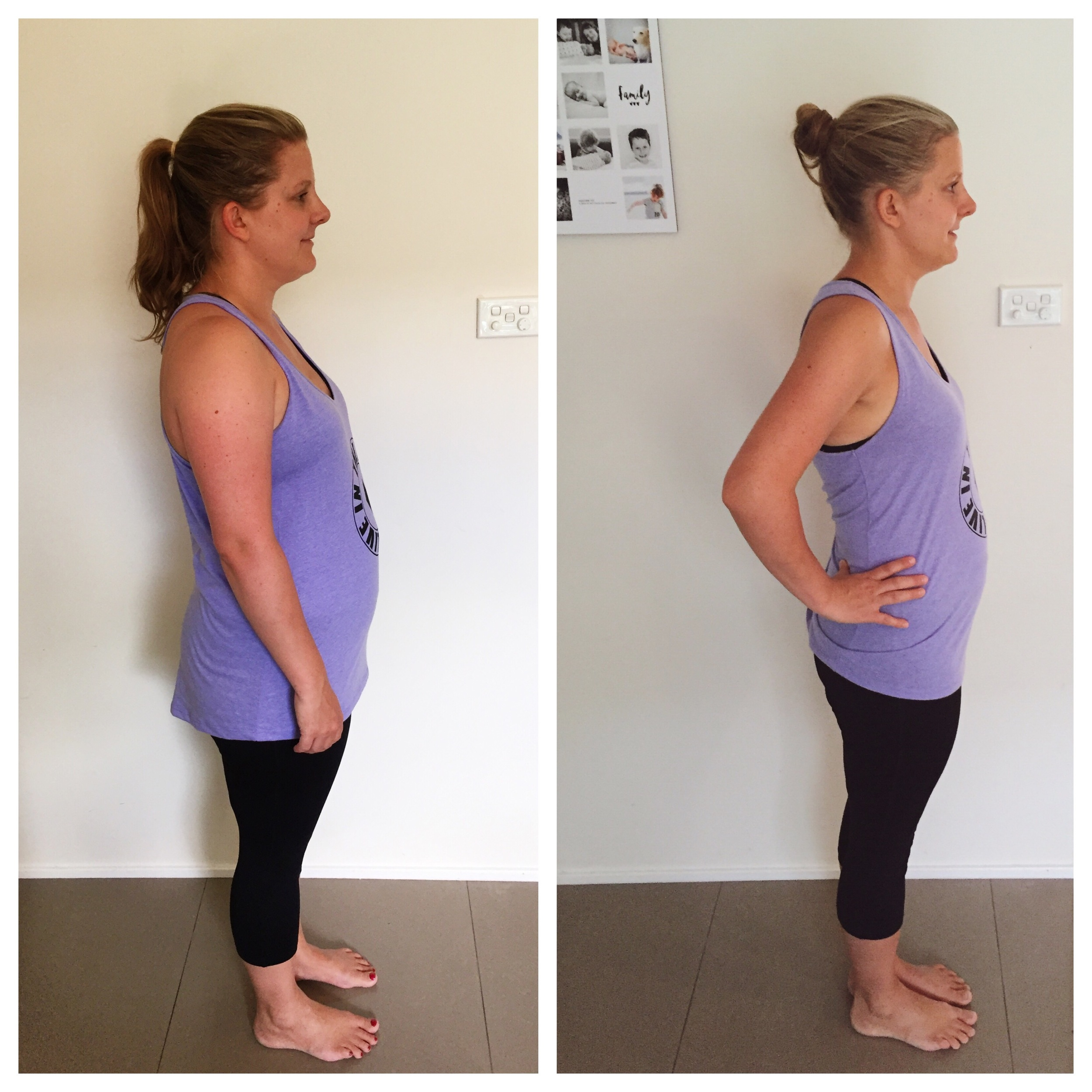 Left: 12 weeks ago, Right: Now!