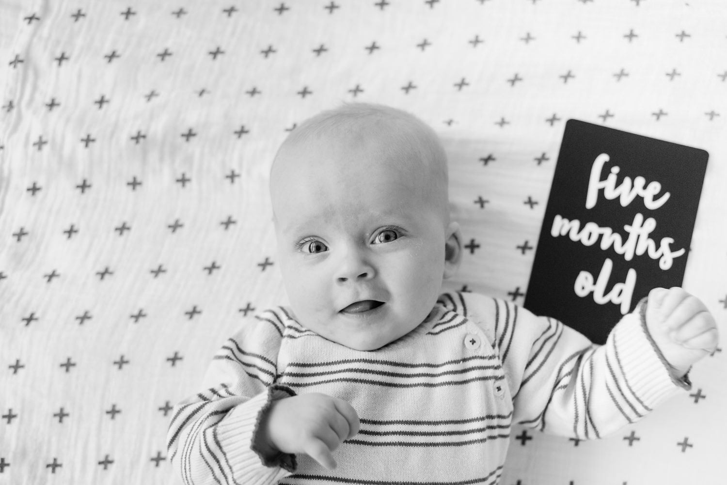 Baby milestone card from  Leni & Co