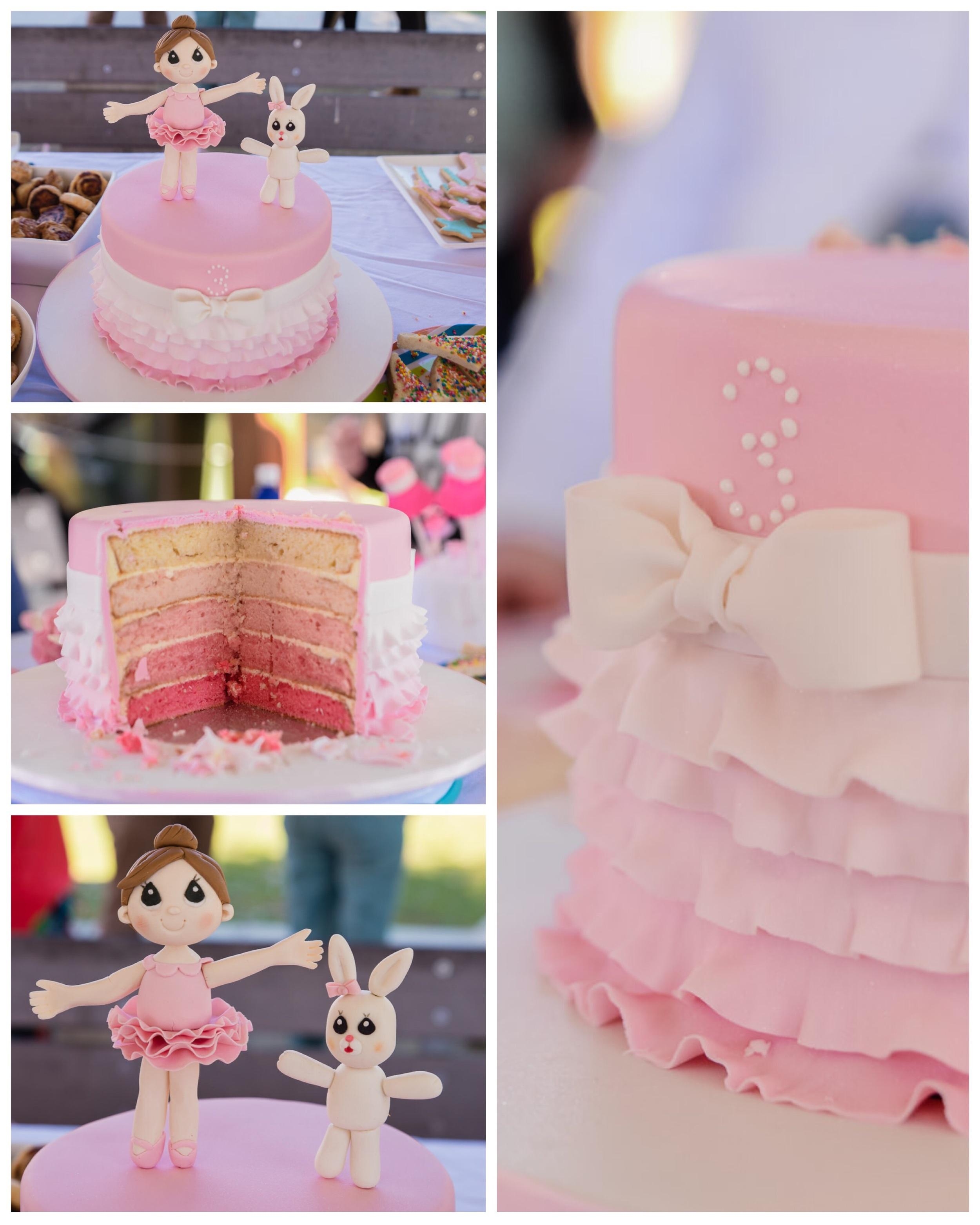 The amazing birthday cake made by the birthday girl's talented mum