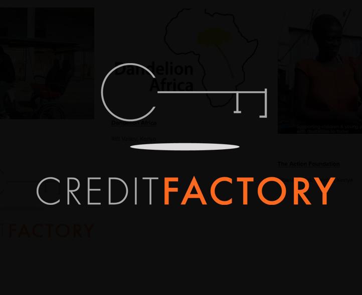 Credit Factory     Rural Kenya