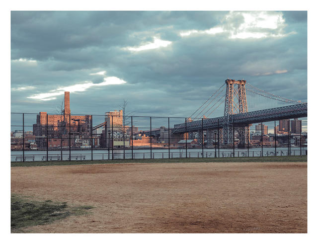 Baseball field, East River Park & Domino Sugar, New York, NY, 2014