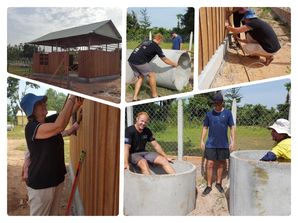 Scott and Hayden were digging the toilet! Karen working on one of the classrooms.  A very hot and exhausting morning but great to see what wonderful work VBC are doing.