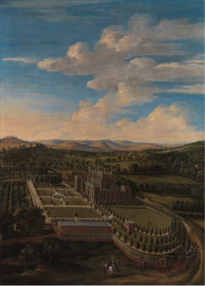 Figure 1: Jan Siberechts, Wollaton Hall and Park, Nottinghamshire, 1697, Oil on canvas, Yale Center for British Art, Paul Mellon Collection