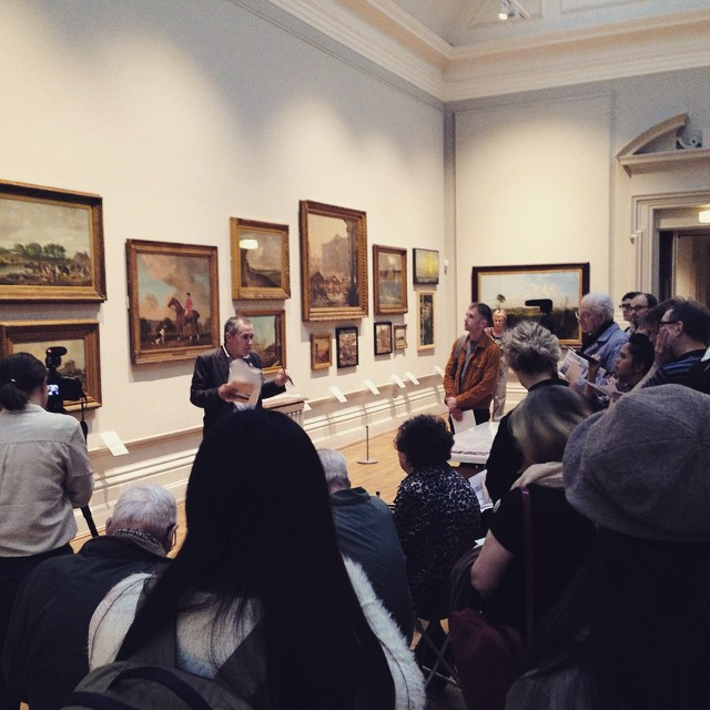 Ian Waites discusses common-land at Nottingham Castle Museum and Art Gallery #art #history #nottingham #VFTE