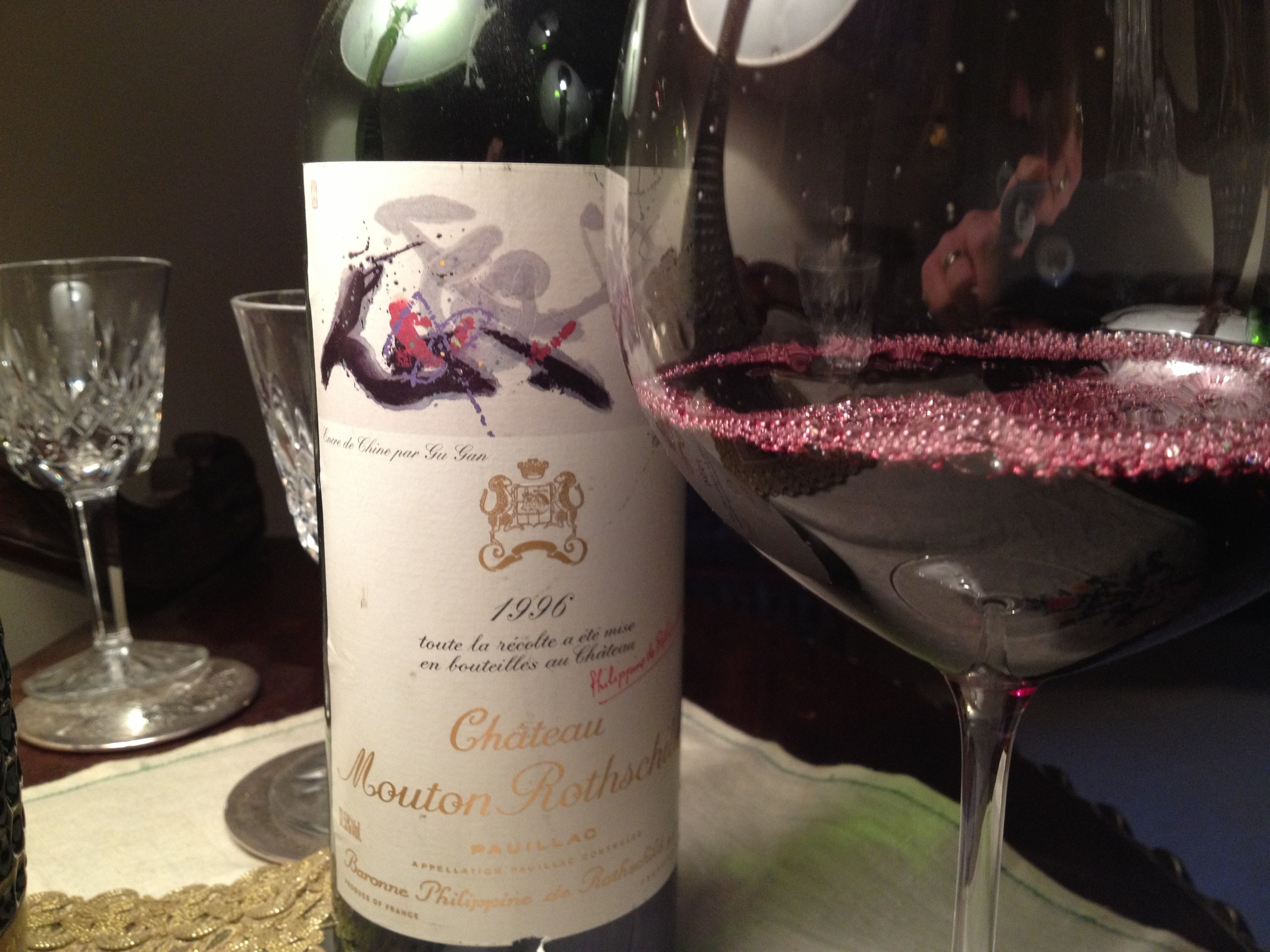 """What else but a """"Mouton Rothschild""""...."""