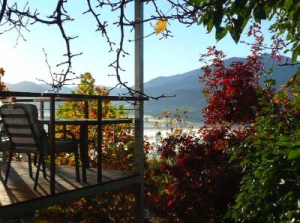 Autumn view from one of the estates chalets. Simply stunning!