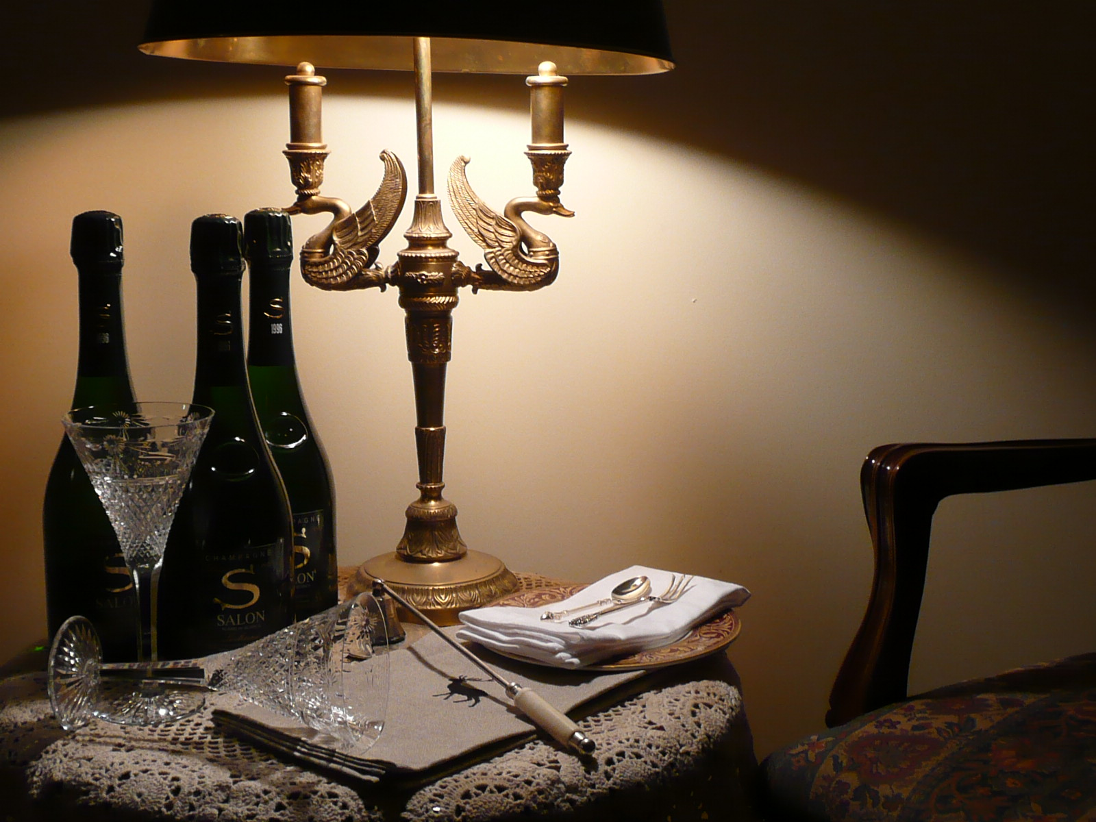 """Offering exquisite Champagnes & Rare Fine Wines... Here we have three chilled """"Salon"""" from 1996. The """"Year of the Light"""" 1996 was the finest vintage in Champagne, France for the 100 years."""