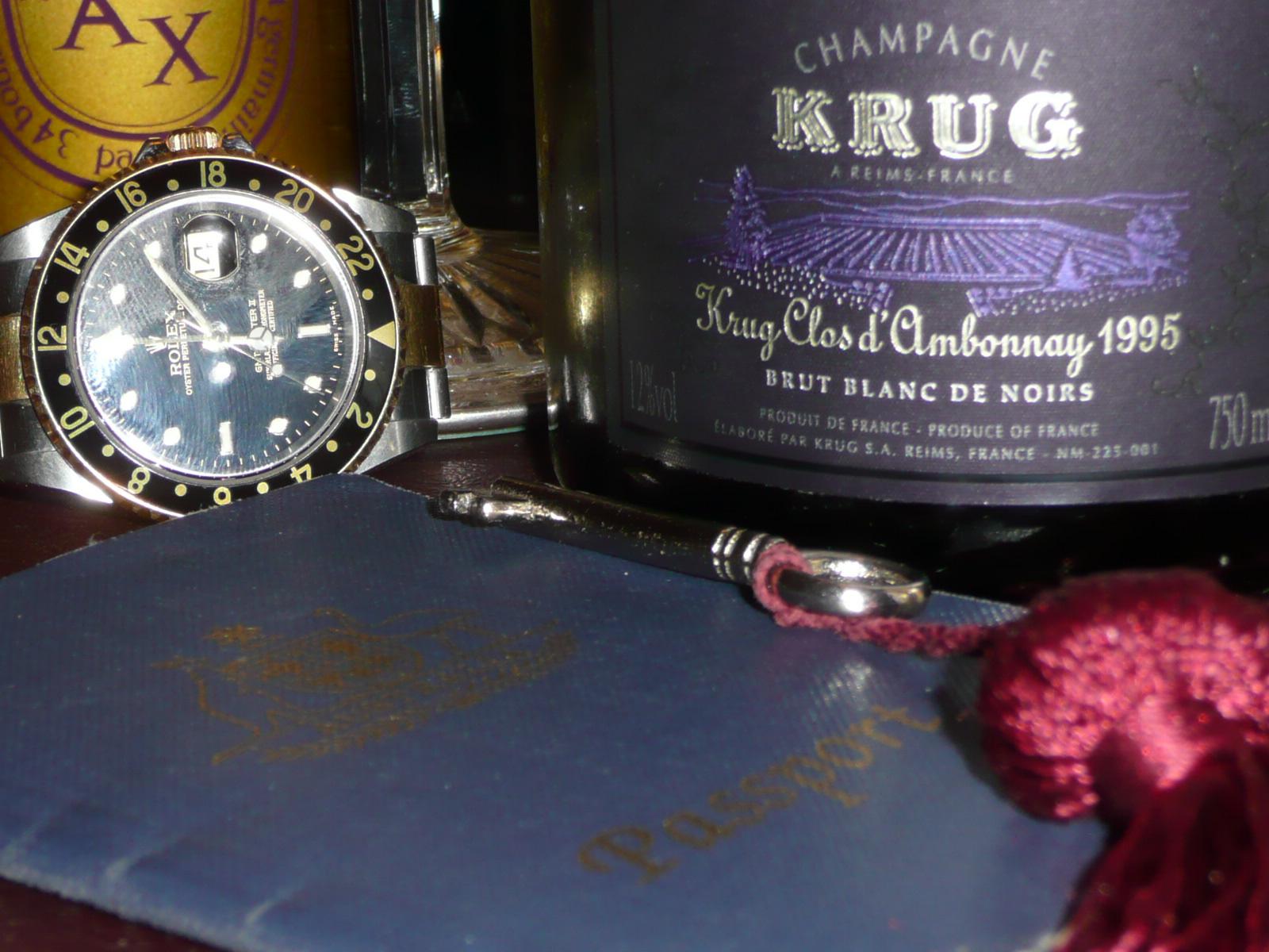 "Krug's finest rare Champagne... ""Clos d' Ambonnay."