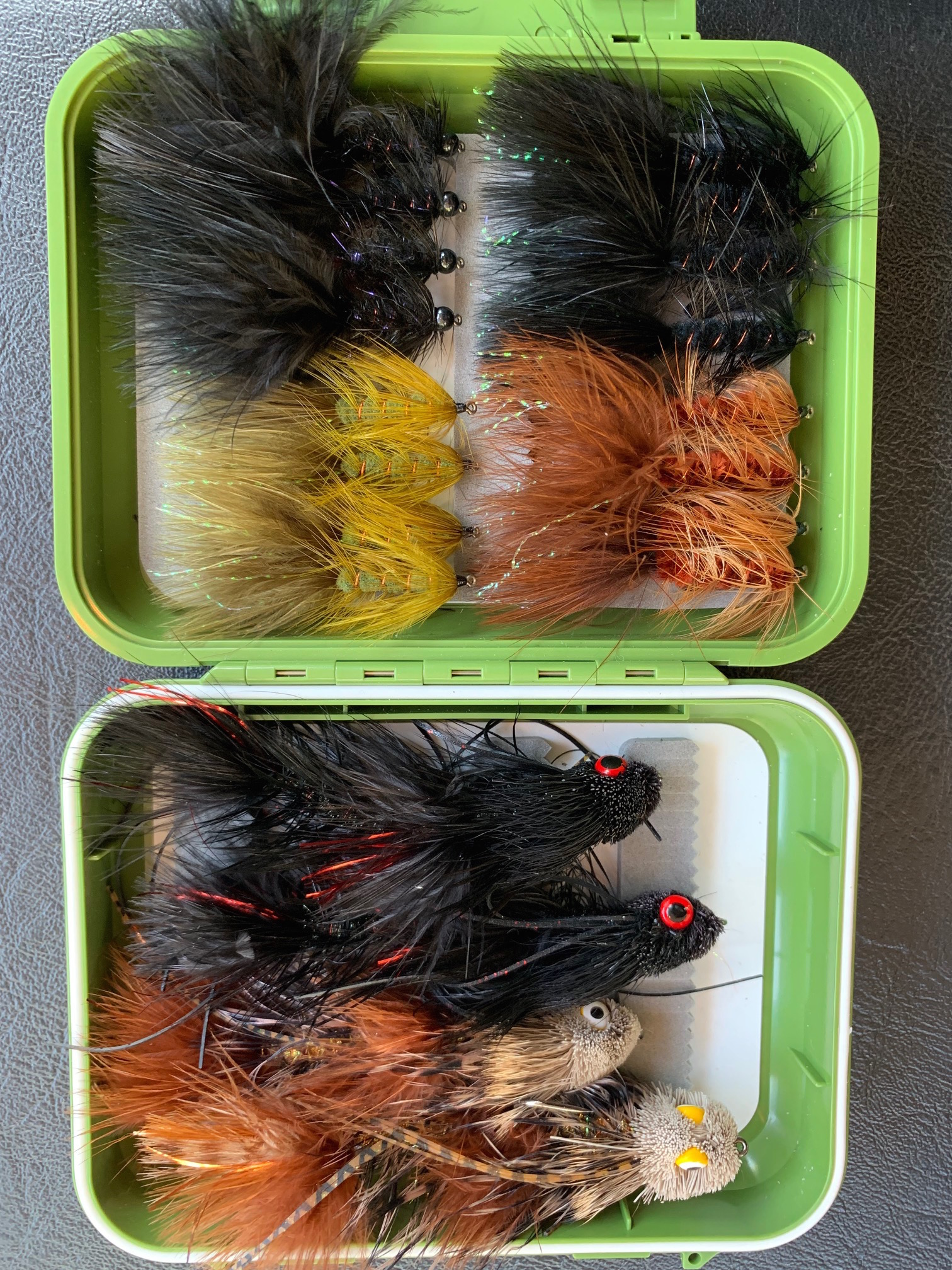A nice selection of Murray Cod flys for the high country up this way.