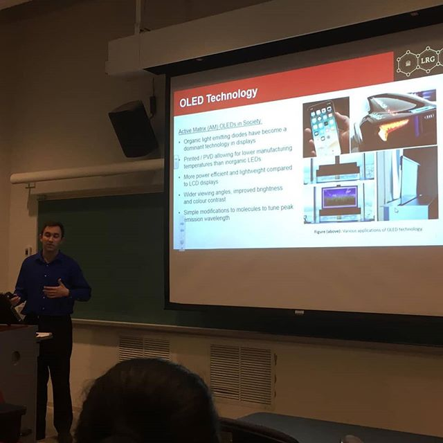 Congrats @bengineer9 on a successful #undergrad #thesis #presentation on the scale up synthesis of #materials for organic electronics! #powerpointdesign . . . . . . . . . #organicchemistry #organicsynthesis #synthesis #gradlife #phdlife #laboratory #chemlab #chem #biochemistry #synthesis #studentlife #student #science #research #lablife