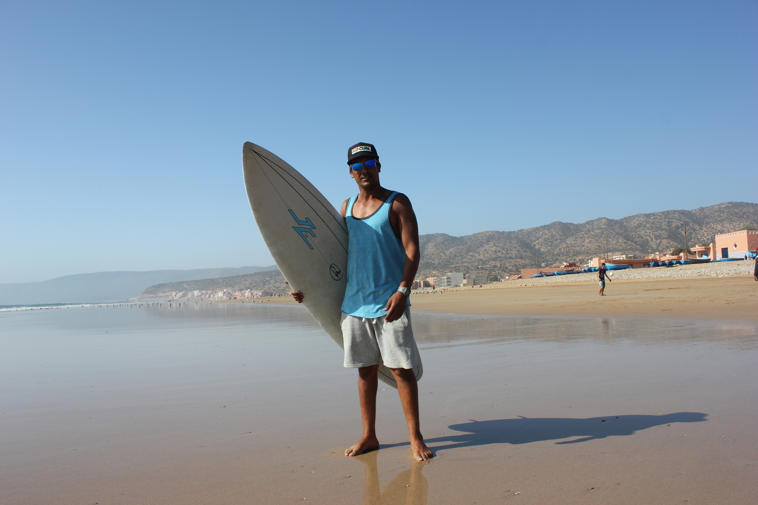 Simmo, one of the surf instructors