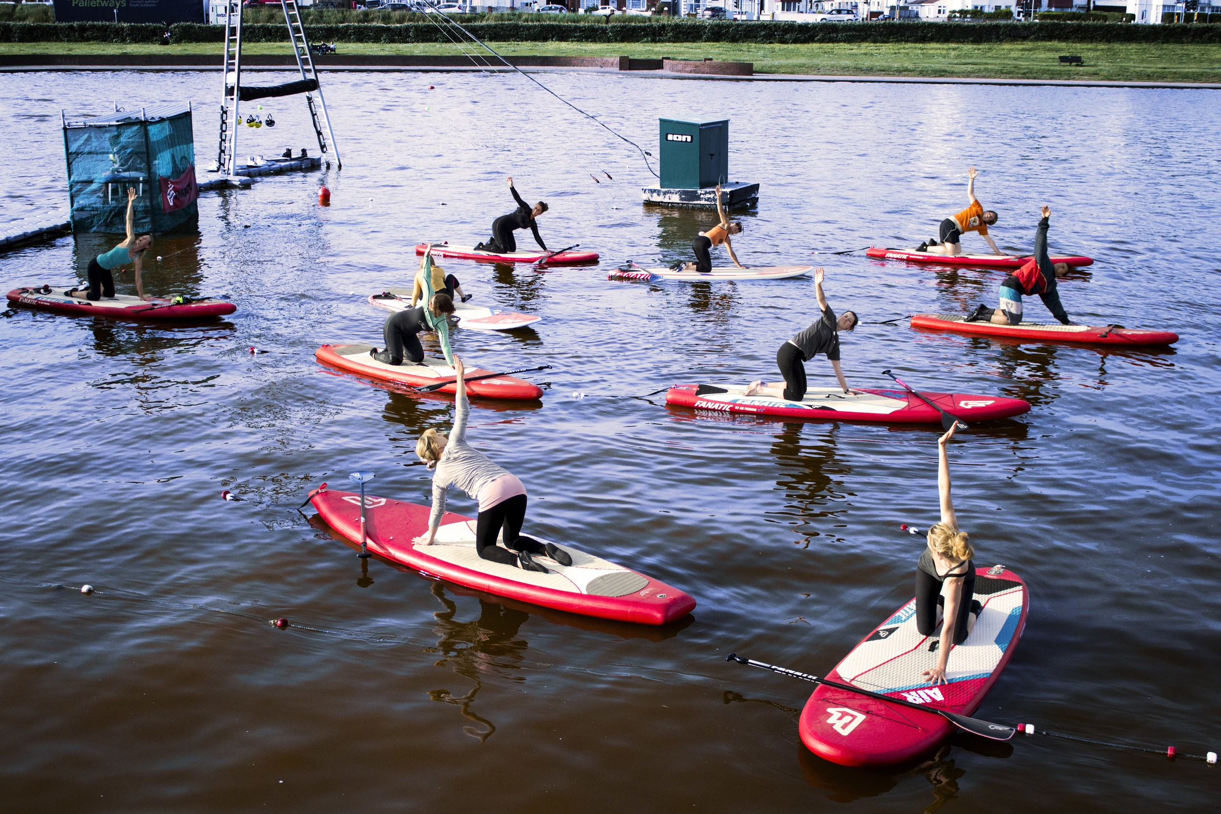 Try an unusual class, like SUP yoga at Hove Lagoon