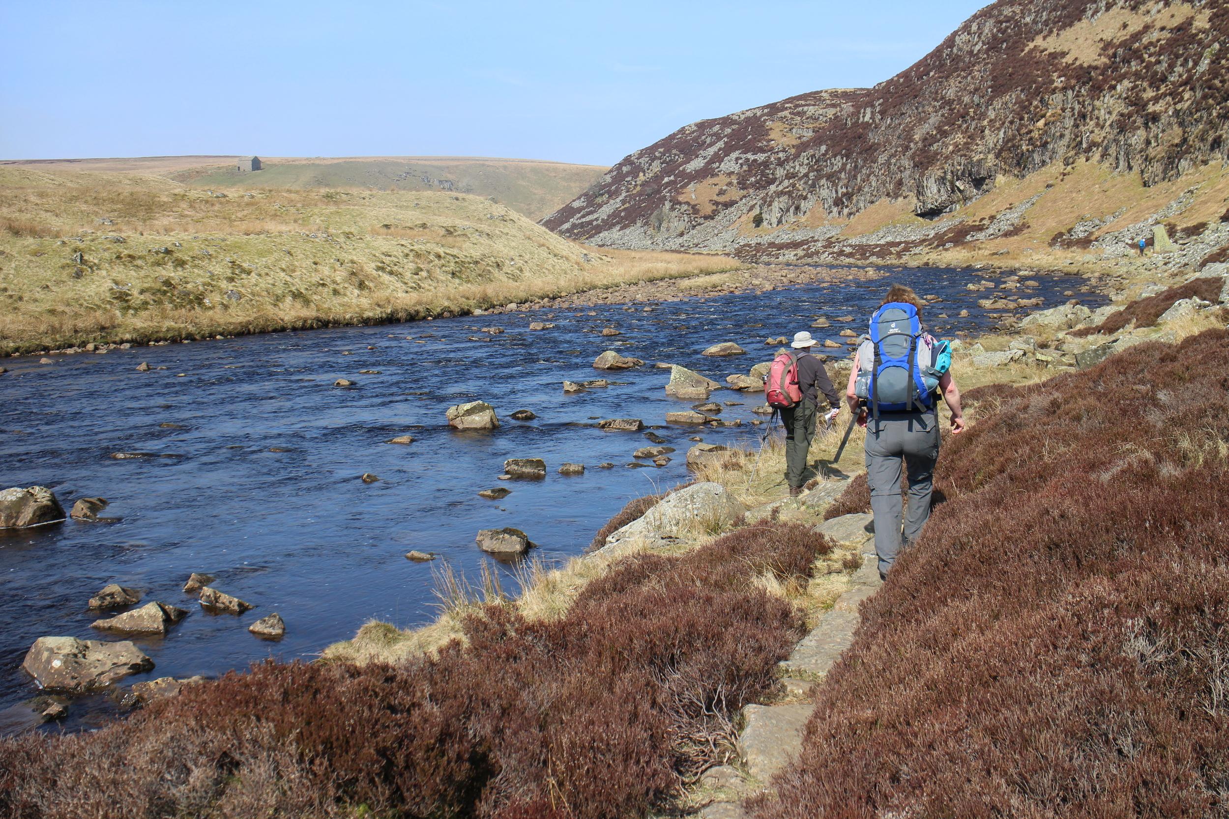 Hiking along the Tees