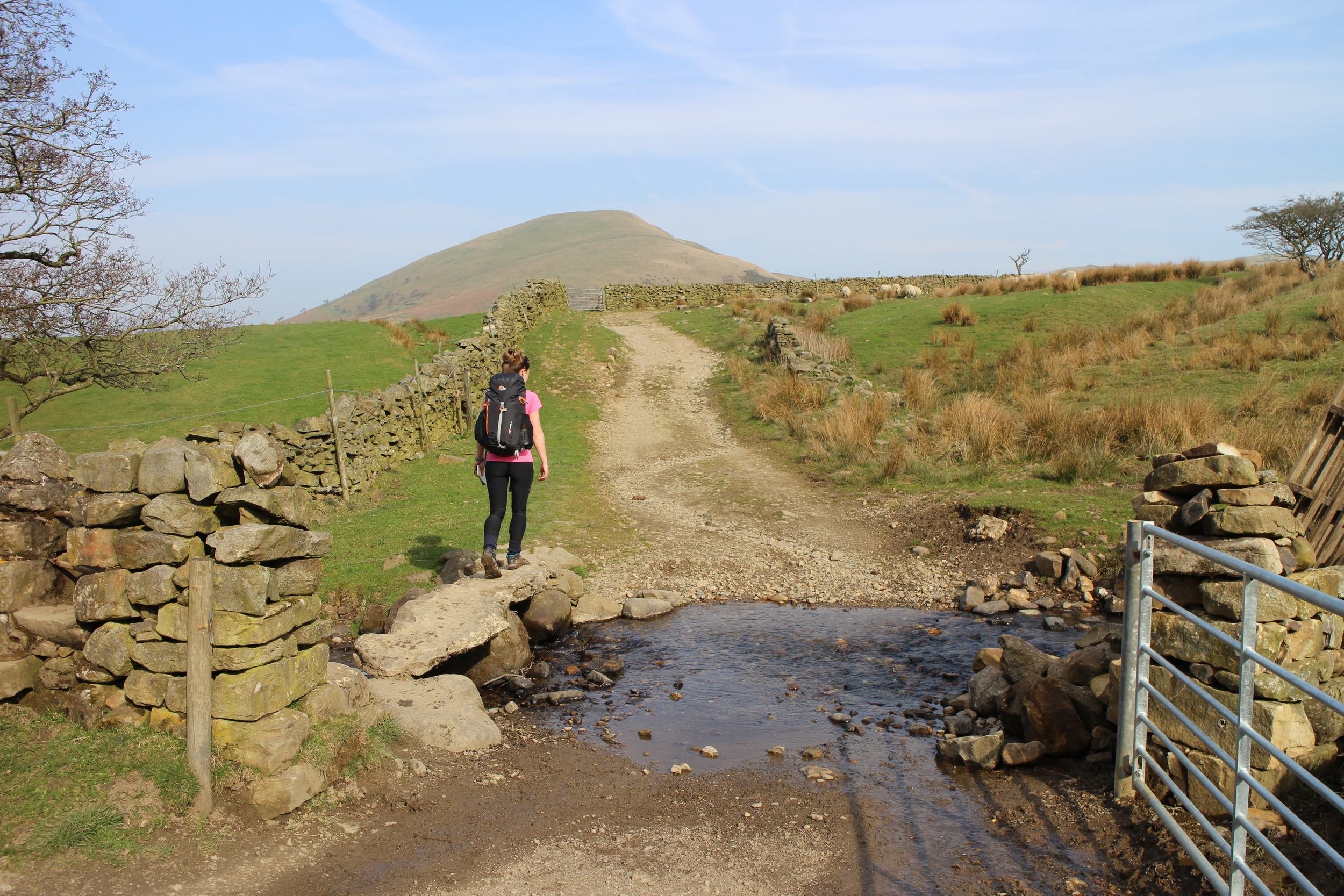 Crossing a stone bridge after leaving Dufton