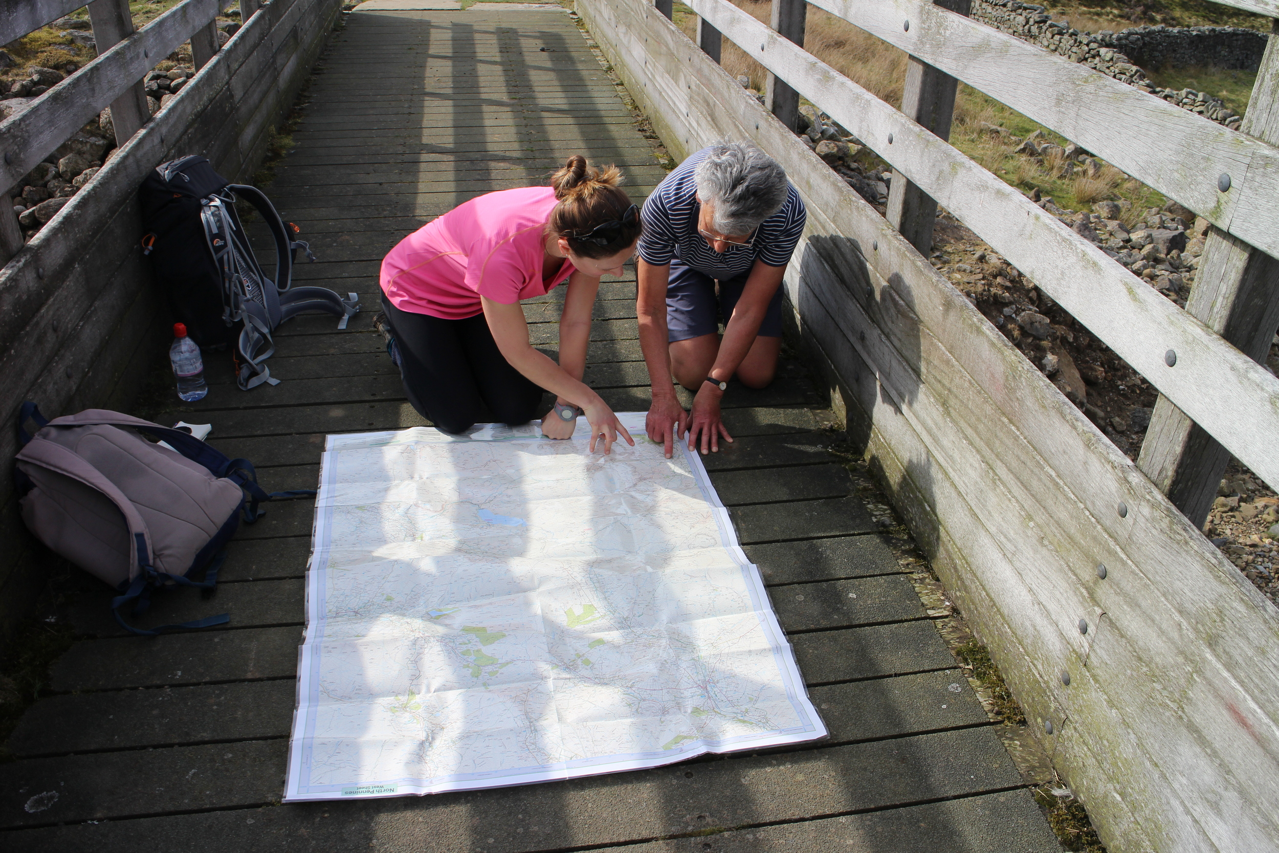 Map checking with Sue Tomlinson