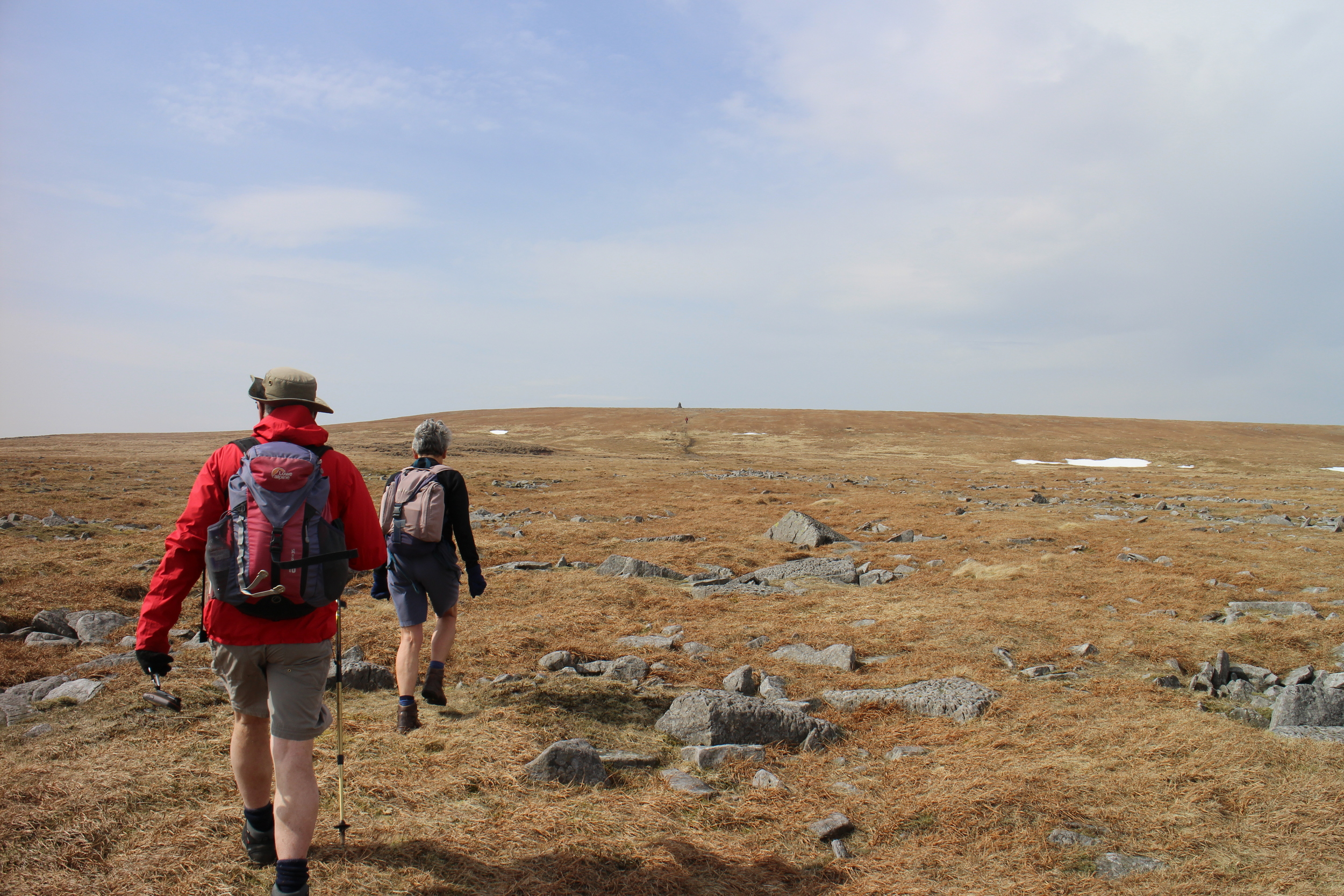 Rocky, barren trail to Cross Fell