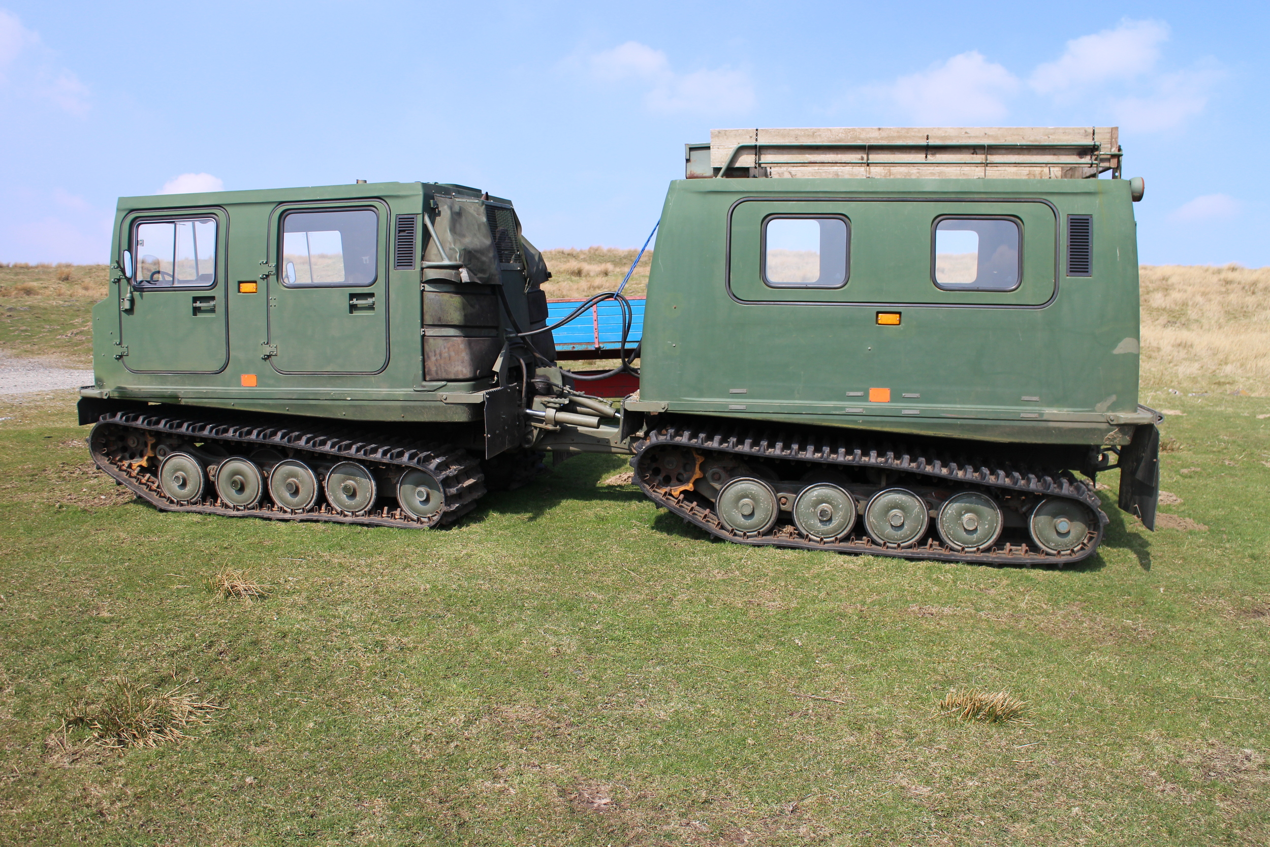 Argo cats for crossing the boggy terrain