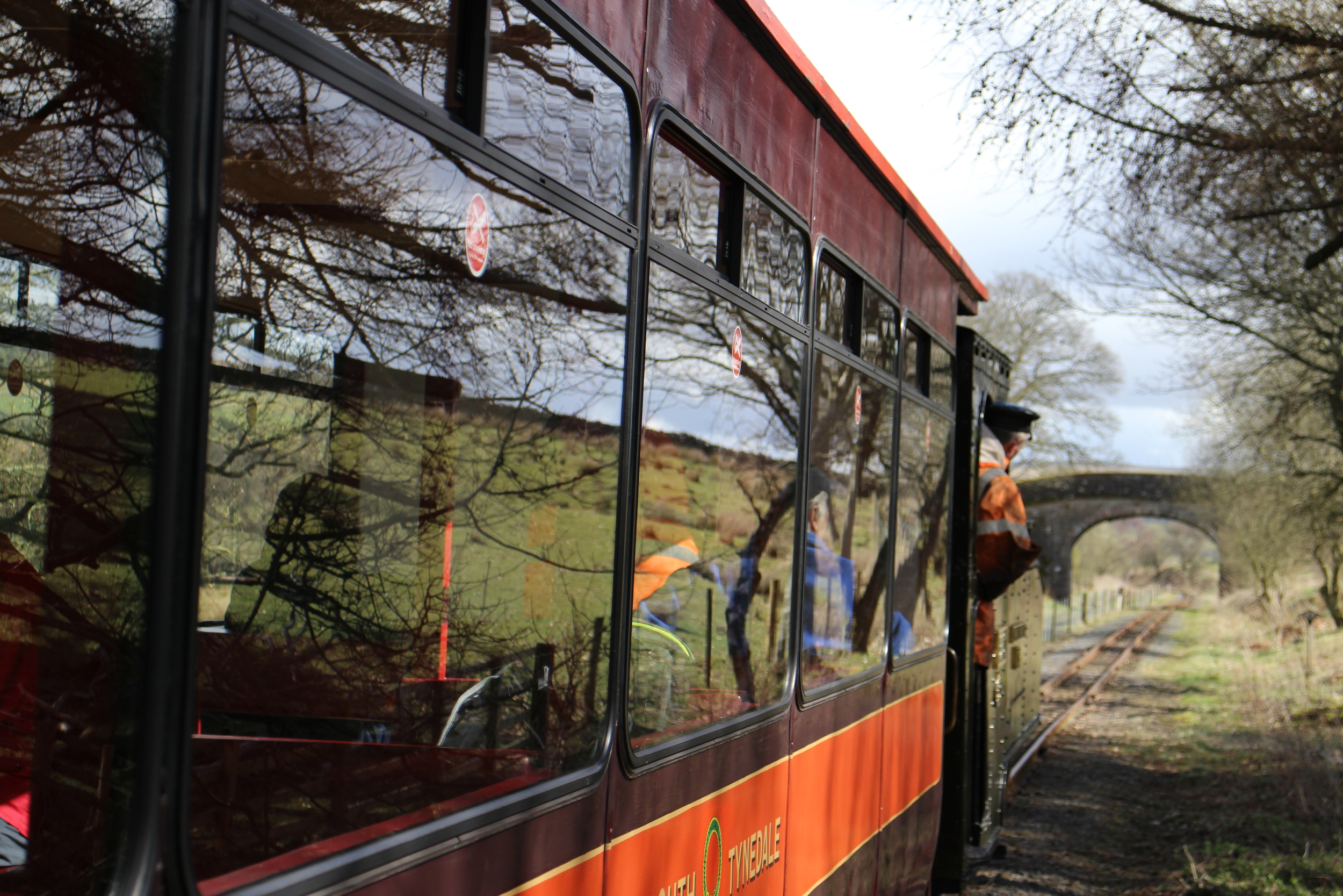 All aboard the South Tynedale steam train