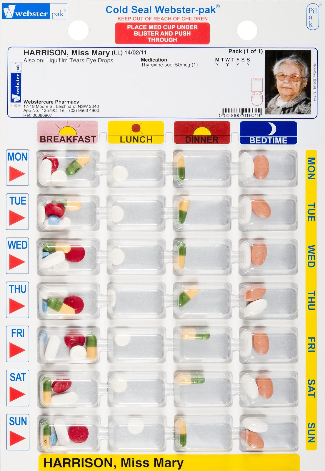 Cold Seal Blister Pack - Multi-Pharma