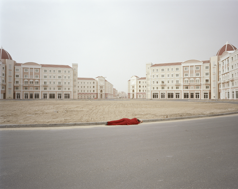 Body Techniques  (after  Encirclement , Valie Export, 1976). Carey Young. 2007. Digital C-Type print, 60 x 48 inches