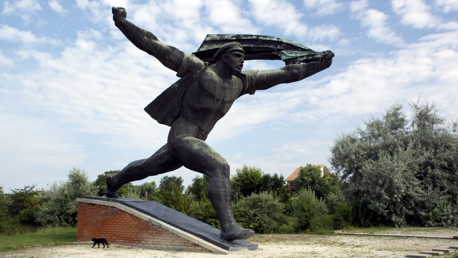 Memento Park,    Carey Young, 2010, HD video, 10 minutes 21 seconds