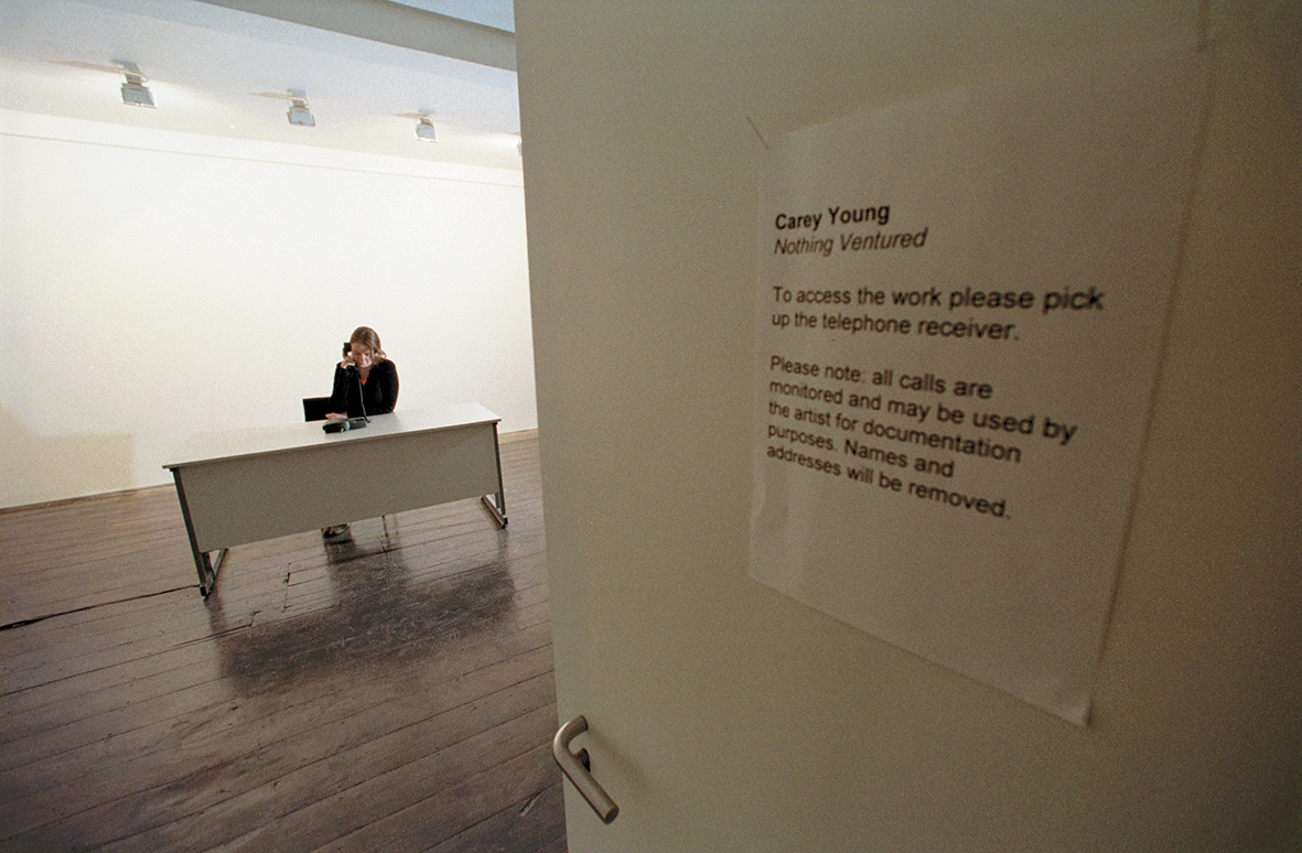 Nothing Ventured as installed at fig-1, London, 2000