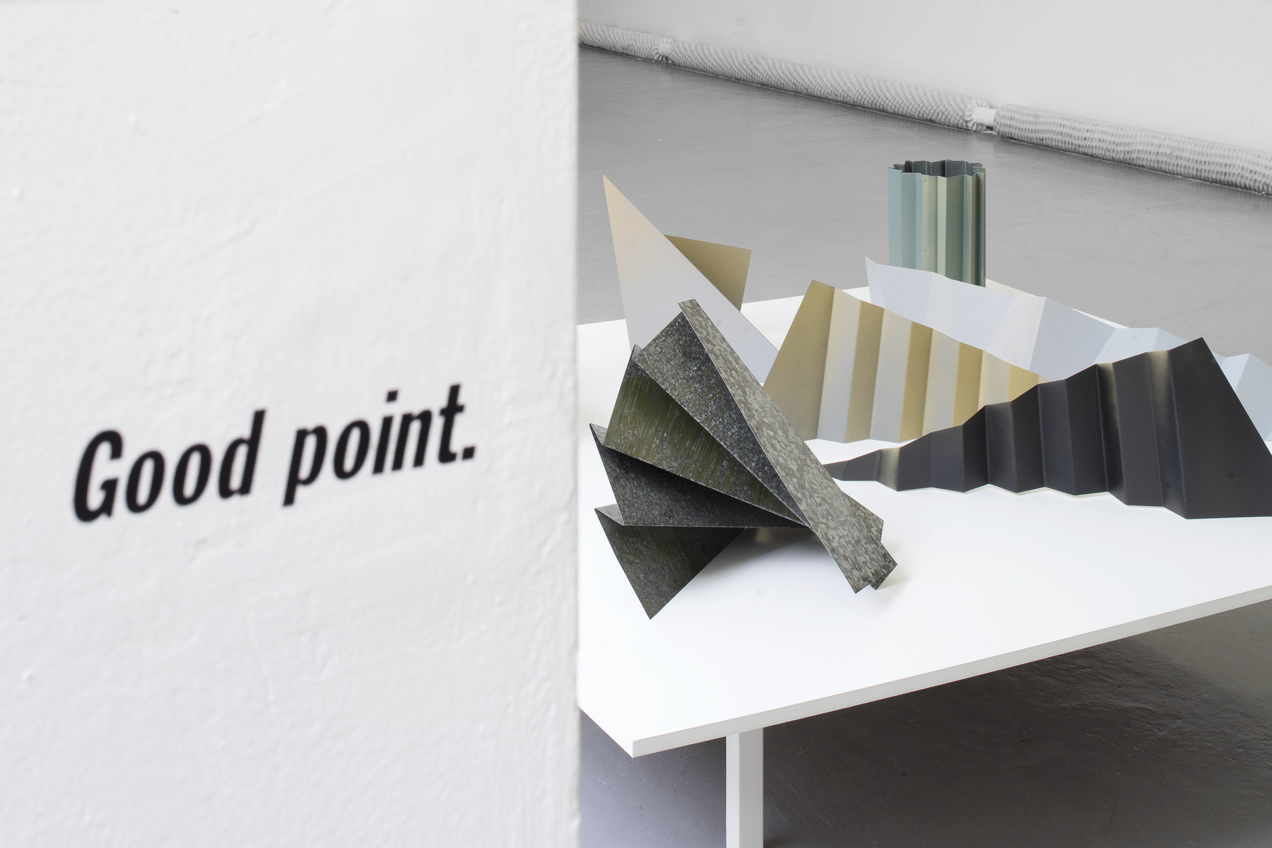 Positive Buzz as installed in the group show 'The Ripple Effect, Prague, 2018, curated by Fatos Utsek
