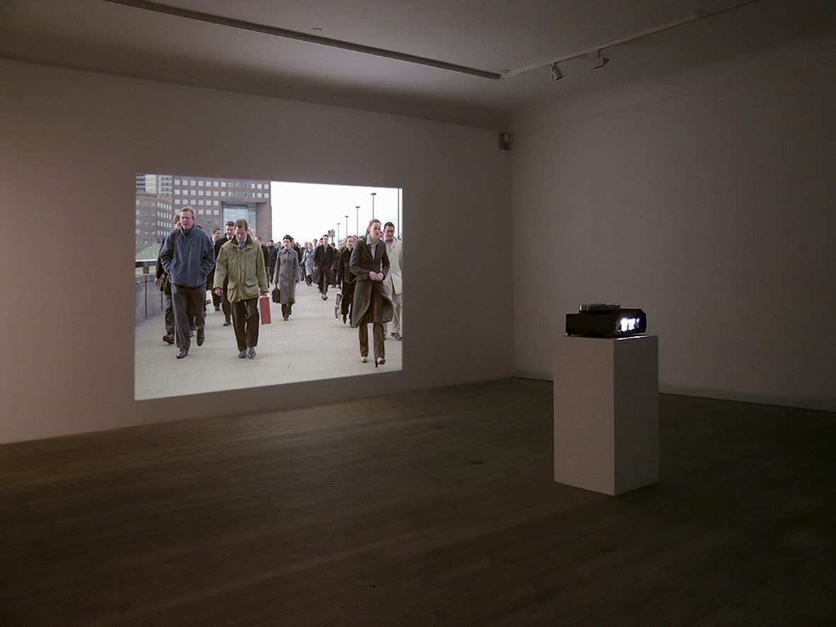 'Lines Made by Walking, as installed at Gammel Holtegaard, Copenhagen, 2010