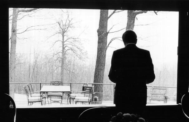 Nixon at Camp David  at the height of the Watergate crisis.