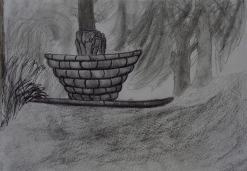 [Untitled] 2013. Charcoal, conte crayon, graphite, and white sketching paper.