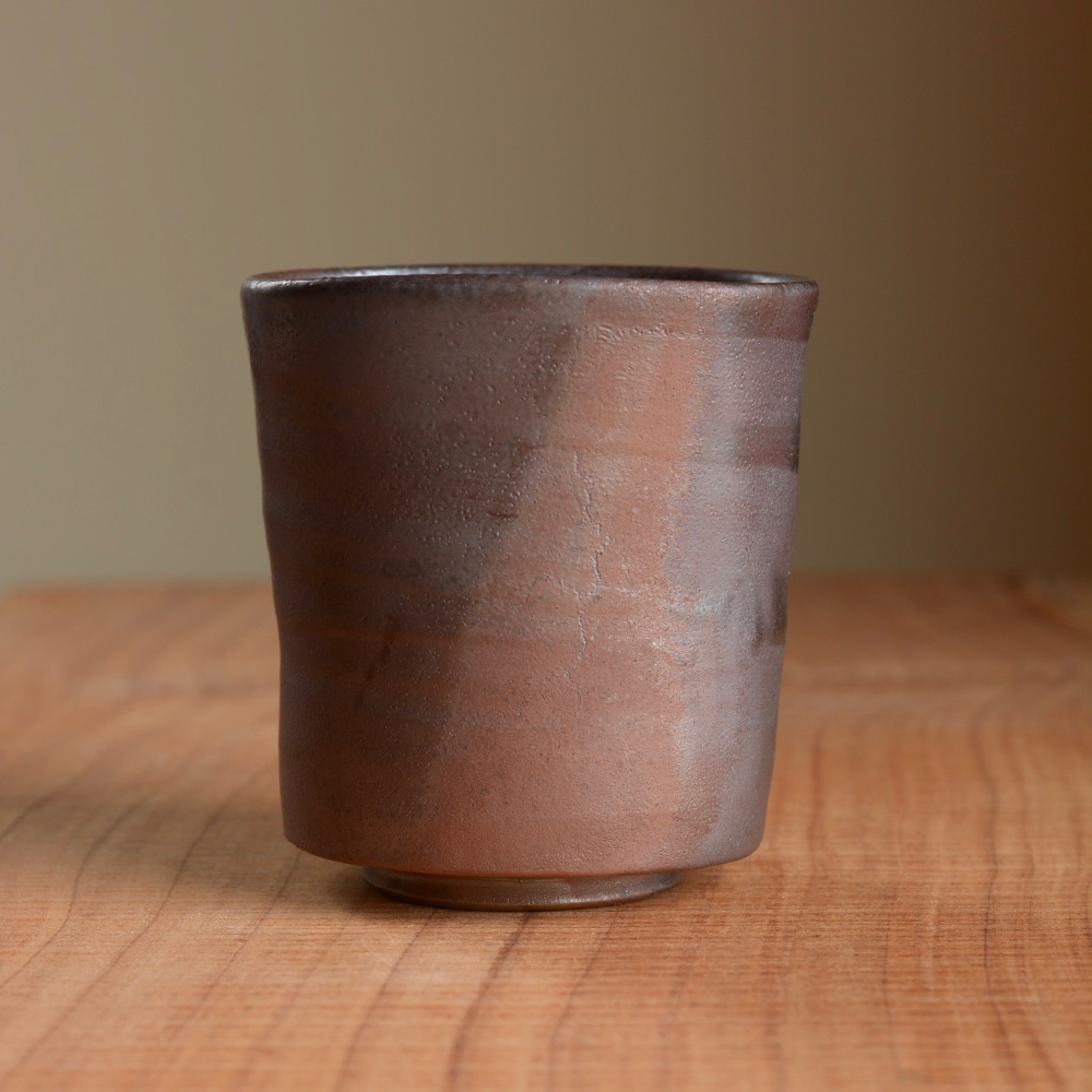 Wood fired Yunomi made from 100% native clay from Feothanach. Fired for 72 hours with local spruce.