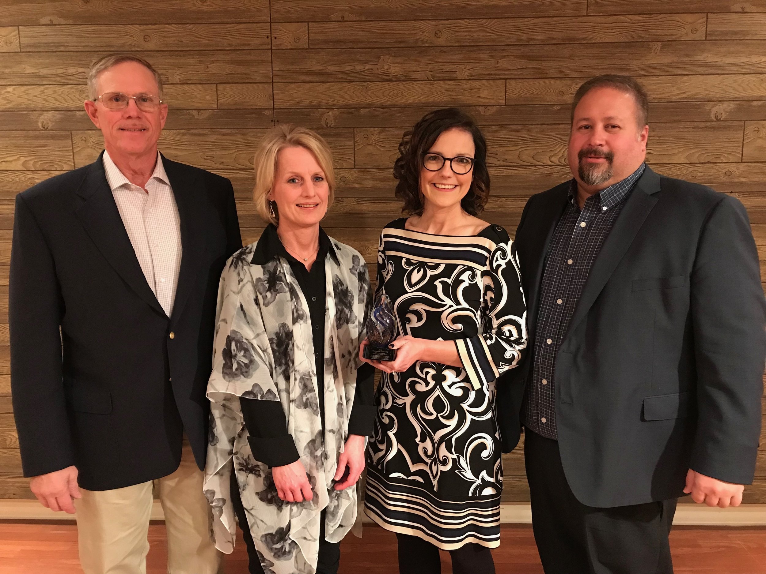 (Photo – from left to right: LENRD Board Chairman, Dennis Schultz; Marketing Coordinator, Stacie Wilken; Executive Director, Traci Jeffrey; and LENRD General Manager, Mike Sousek).