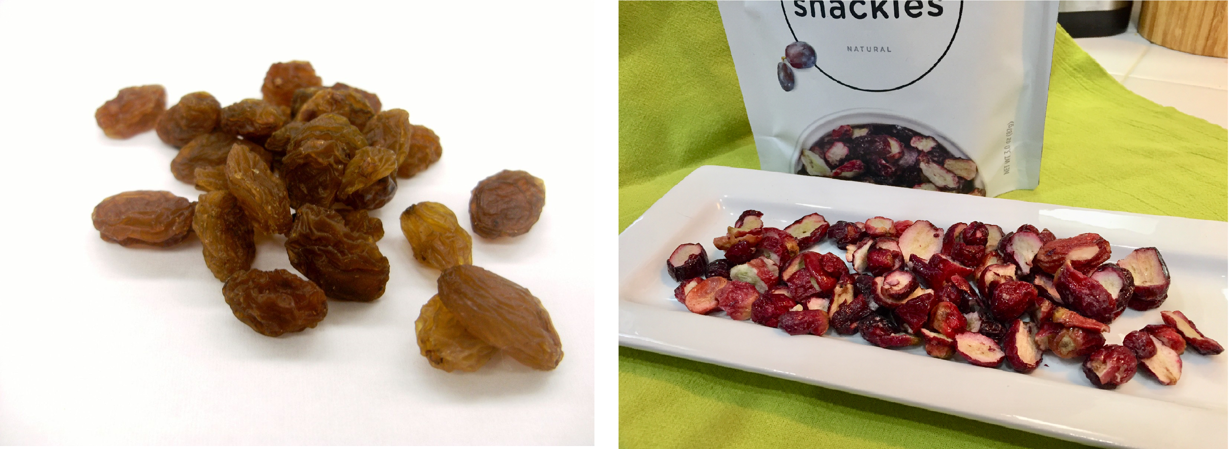 Raisins (dehydrated grapes)  Freeze Dried Red Seedless Grapes