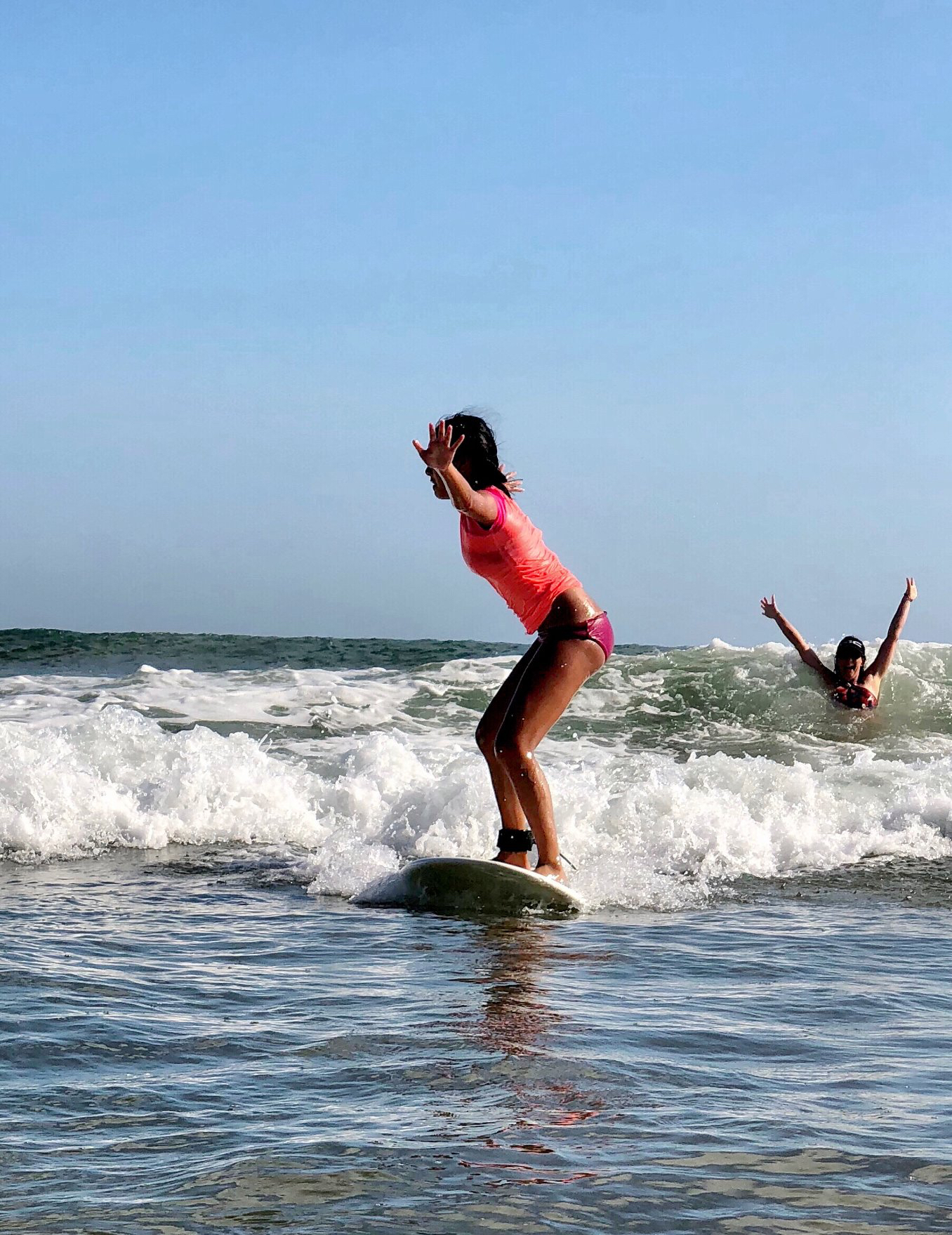 My daughter Sky's first surf adventure in Nicaragua.