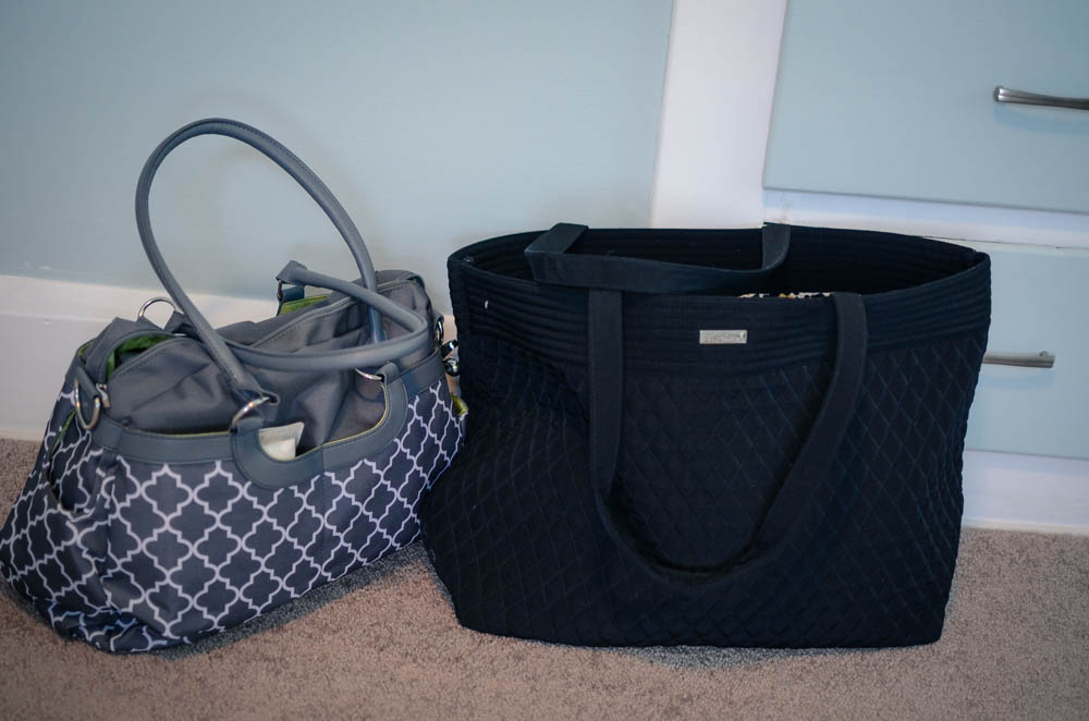 Mama & baby's bags ready to go!! :)