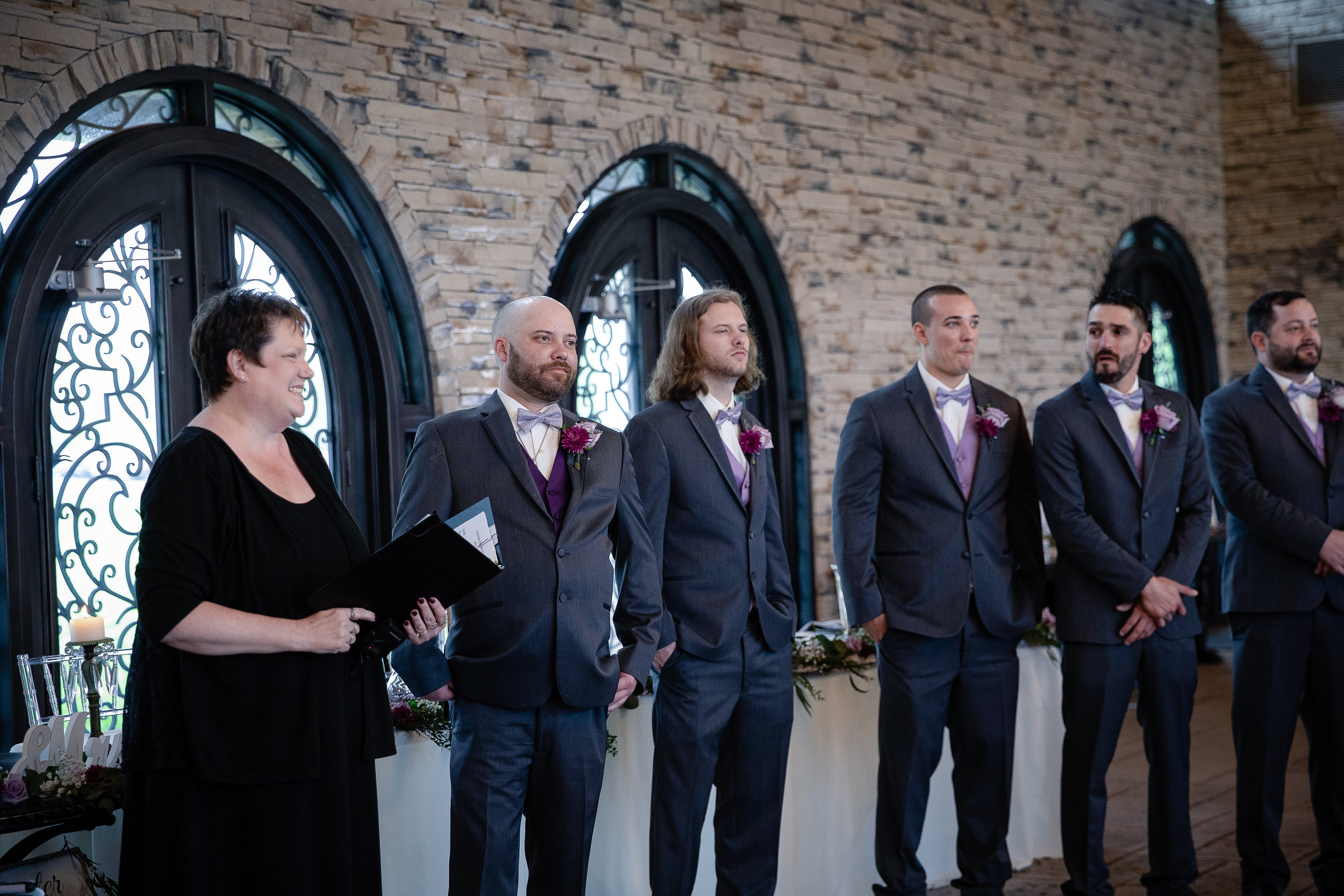 I don't know who's face I adore more here, the groom's, the bride's brother, or the groomsmen's!!!