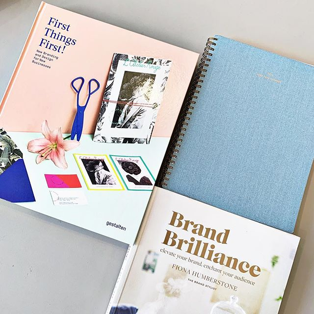 #MondayMotivation @appointedco Yearly Planner @gestalten First Things First @thebrand_stylist Brand Brilliance