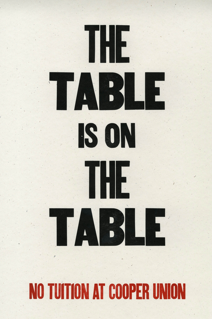 The Table is on the Table