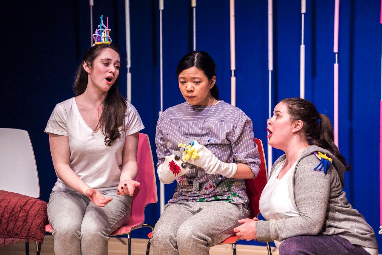 Marisa Karchin, Joyce Yin, and Allison Gish. Photo credit: Lucas Godlewski