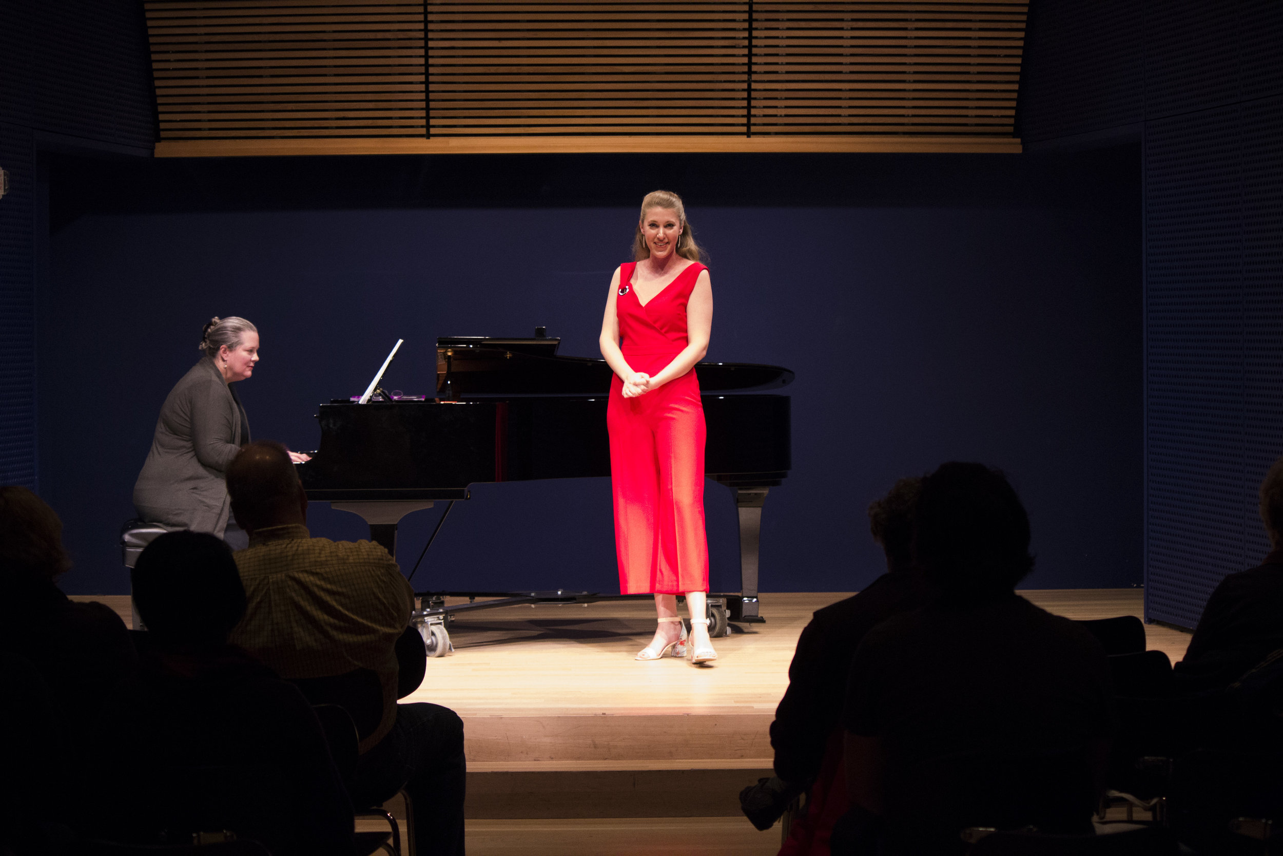 Soprano Rebecca Richardson and pianist Jennifer Peterson in Unbound Identities. Photo credit: Sara Lin Yoder