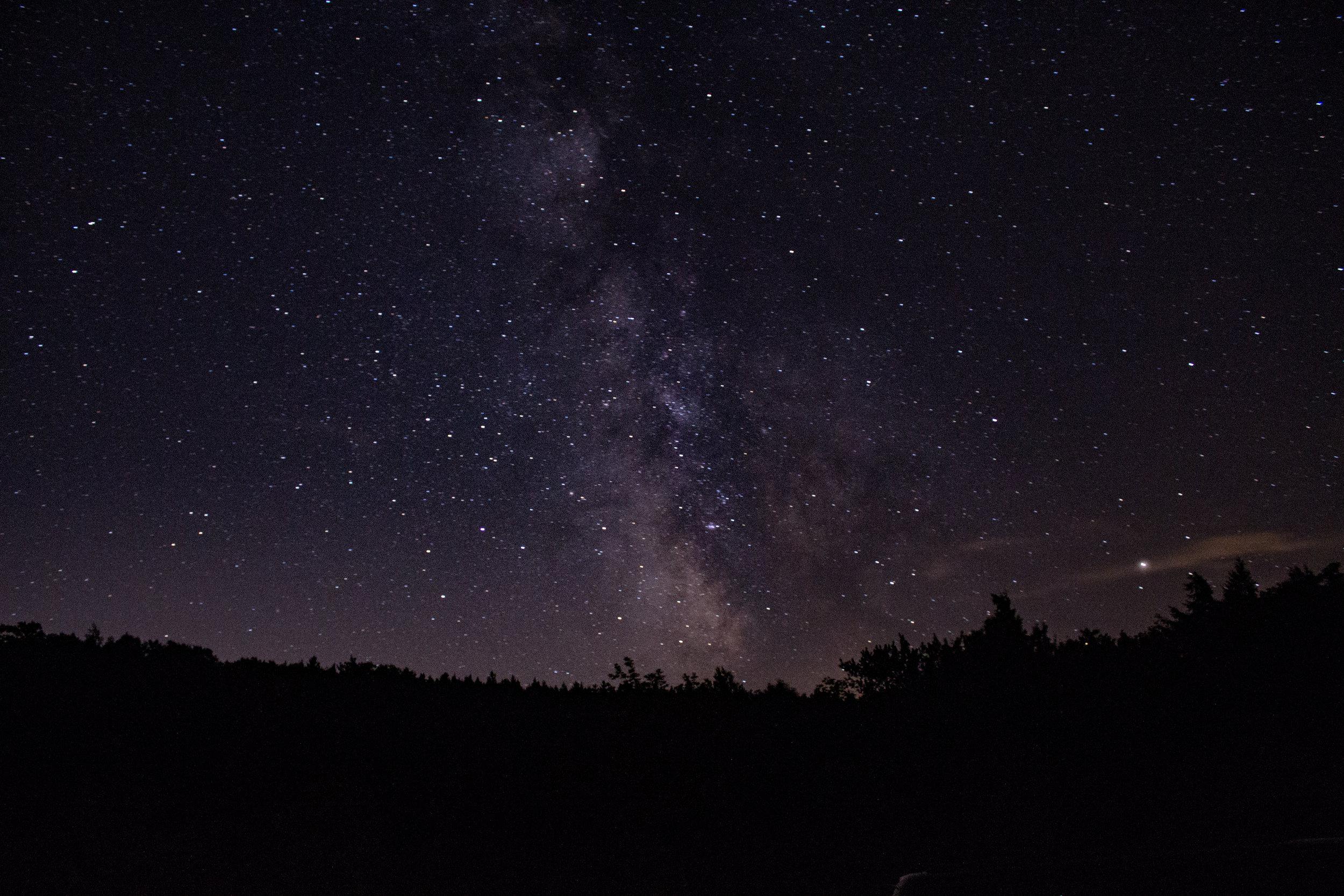 Milky Way. The Pleiades. Photo credit: Laura Mitchell