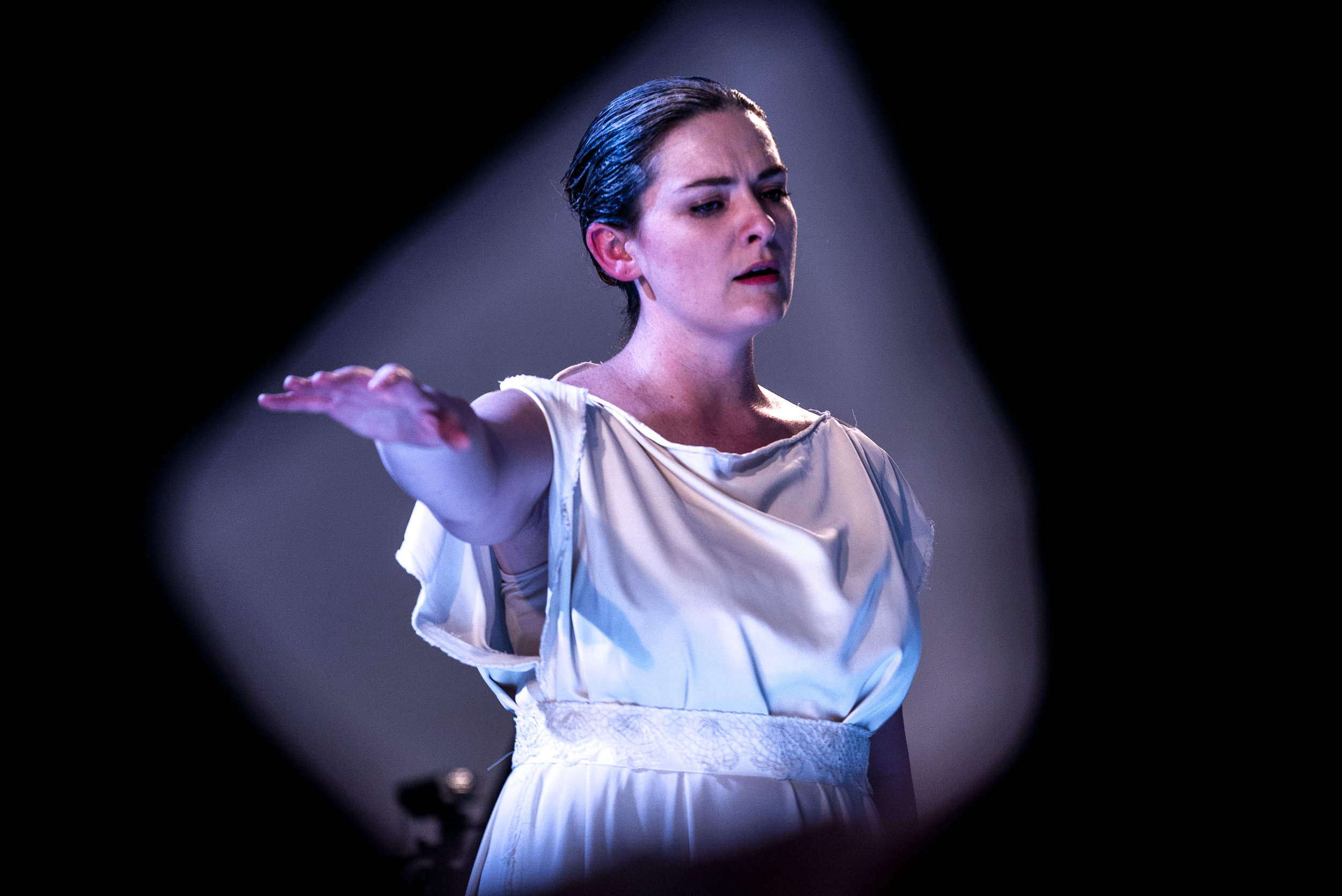 Laura Mitchell as Arcetro in Euridice. Photo credit: Lucas Godlewski