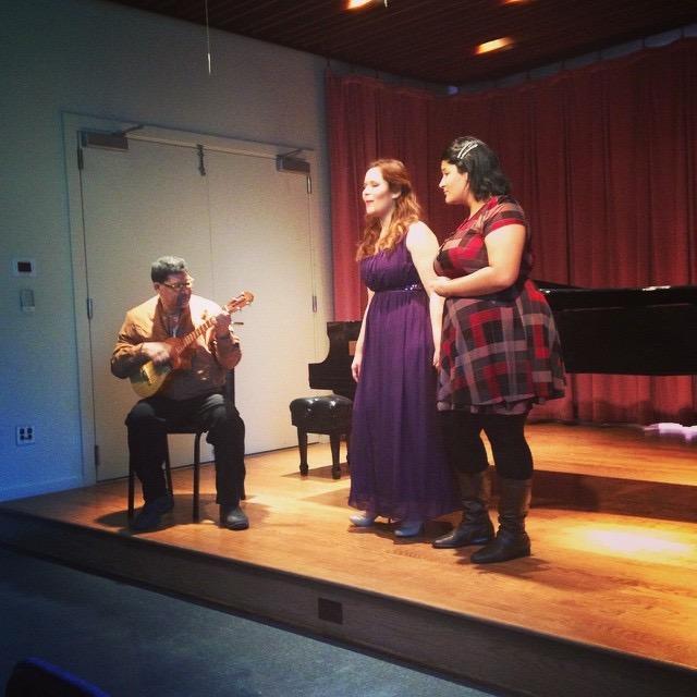 Manhattan School of Music graduation singing Venezuelan with my sister Maria Eliana Brea. My dad is playing the cuatro