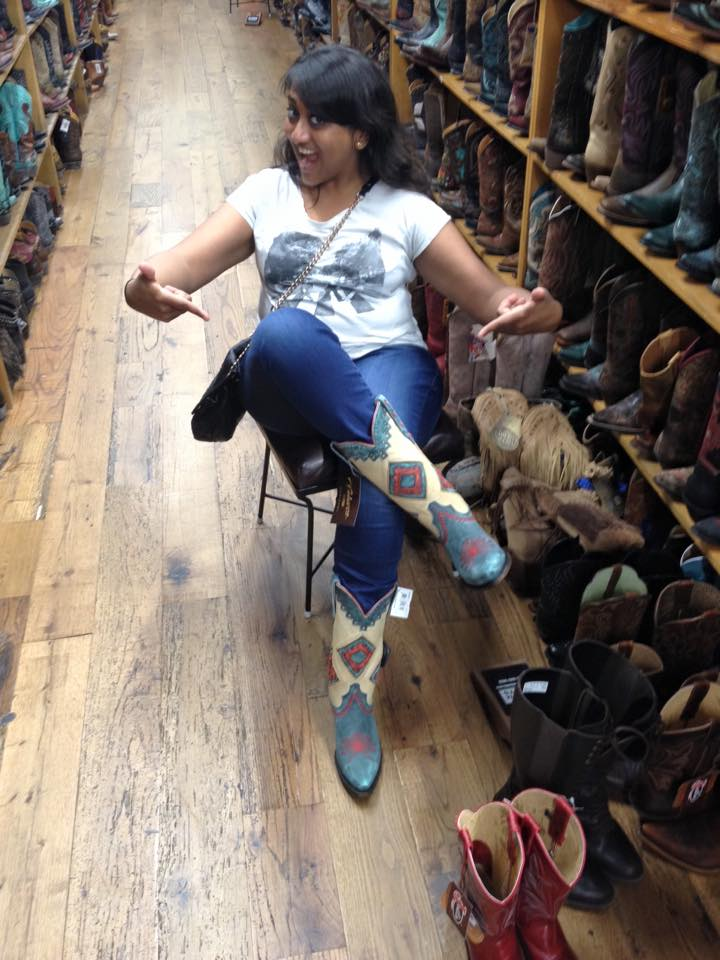I made the most of my down time in Austin, TX, during a business trip. :) Unfortunately, the boots I tried on at Allen's Boots did not come home with me (too expensive)!