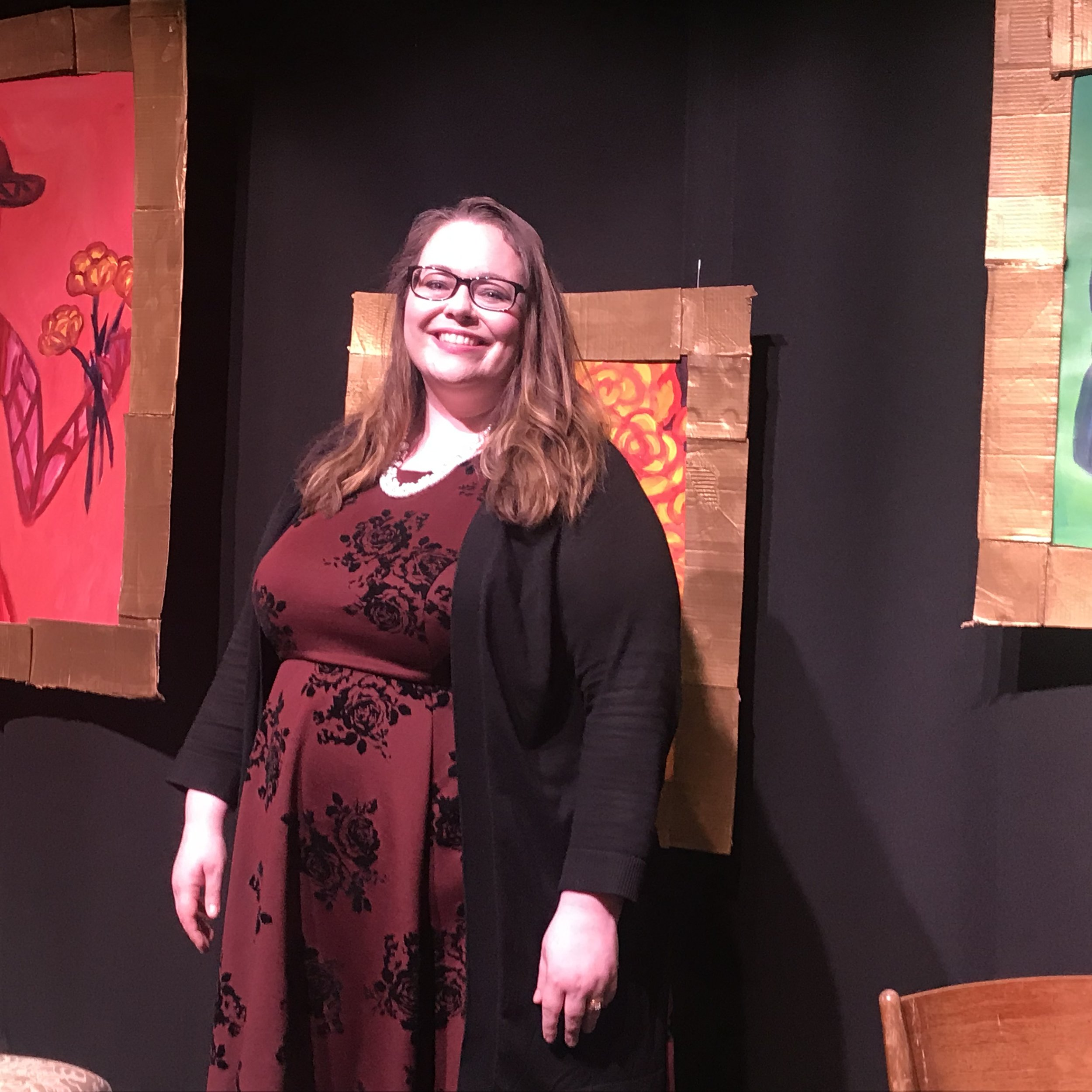 """On the set of, """"The Clever Artifice of Harriet and Margaret"""" by Leanna Kirchoff, with Opera del West in Natick, MA."""